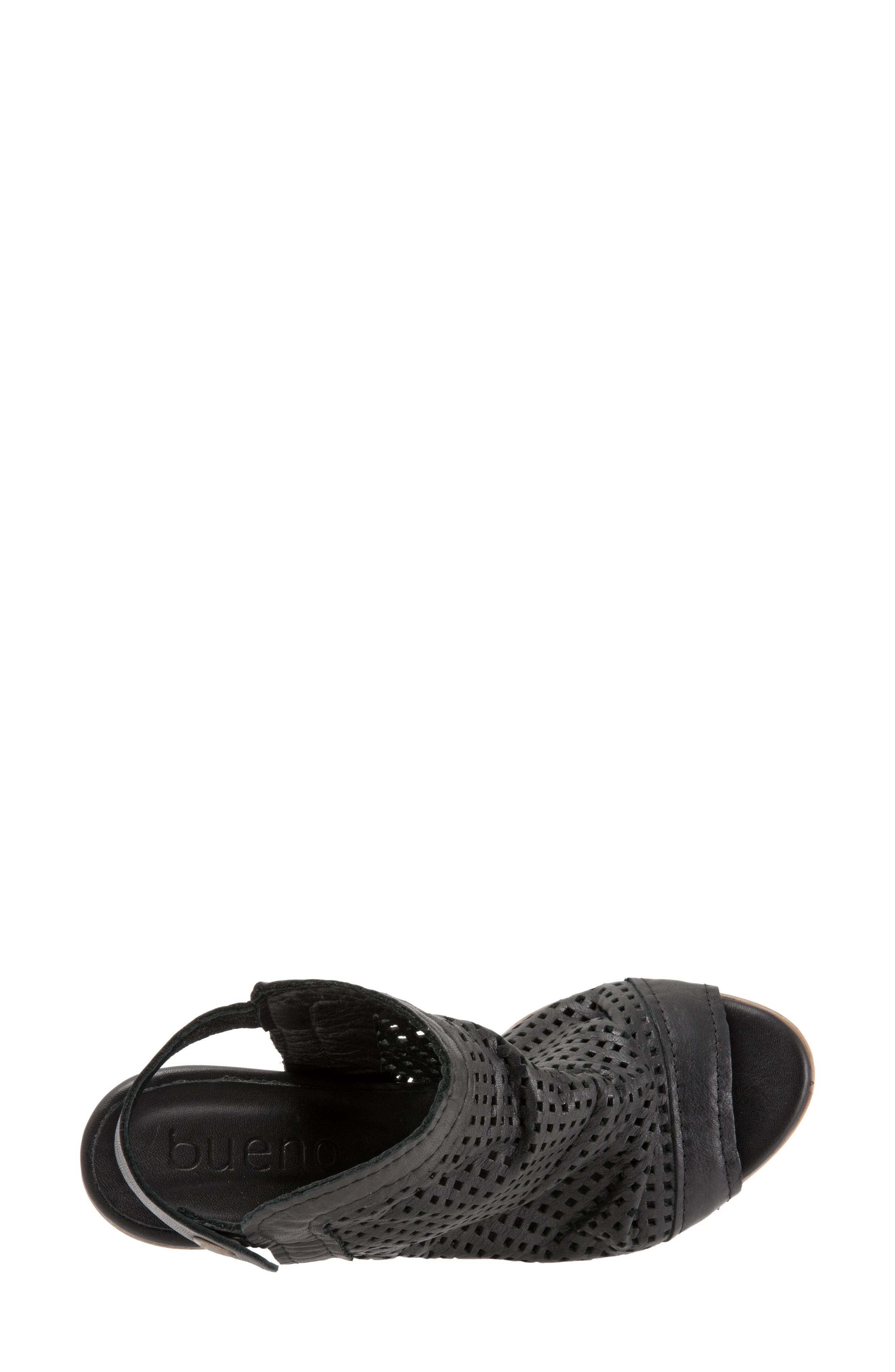 Udo Sandal,                             Alternate thumbnail 5, color,                             Black Leather