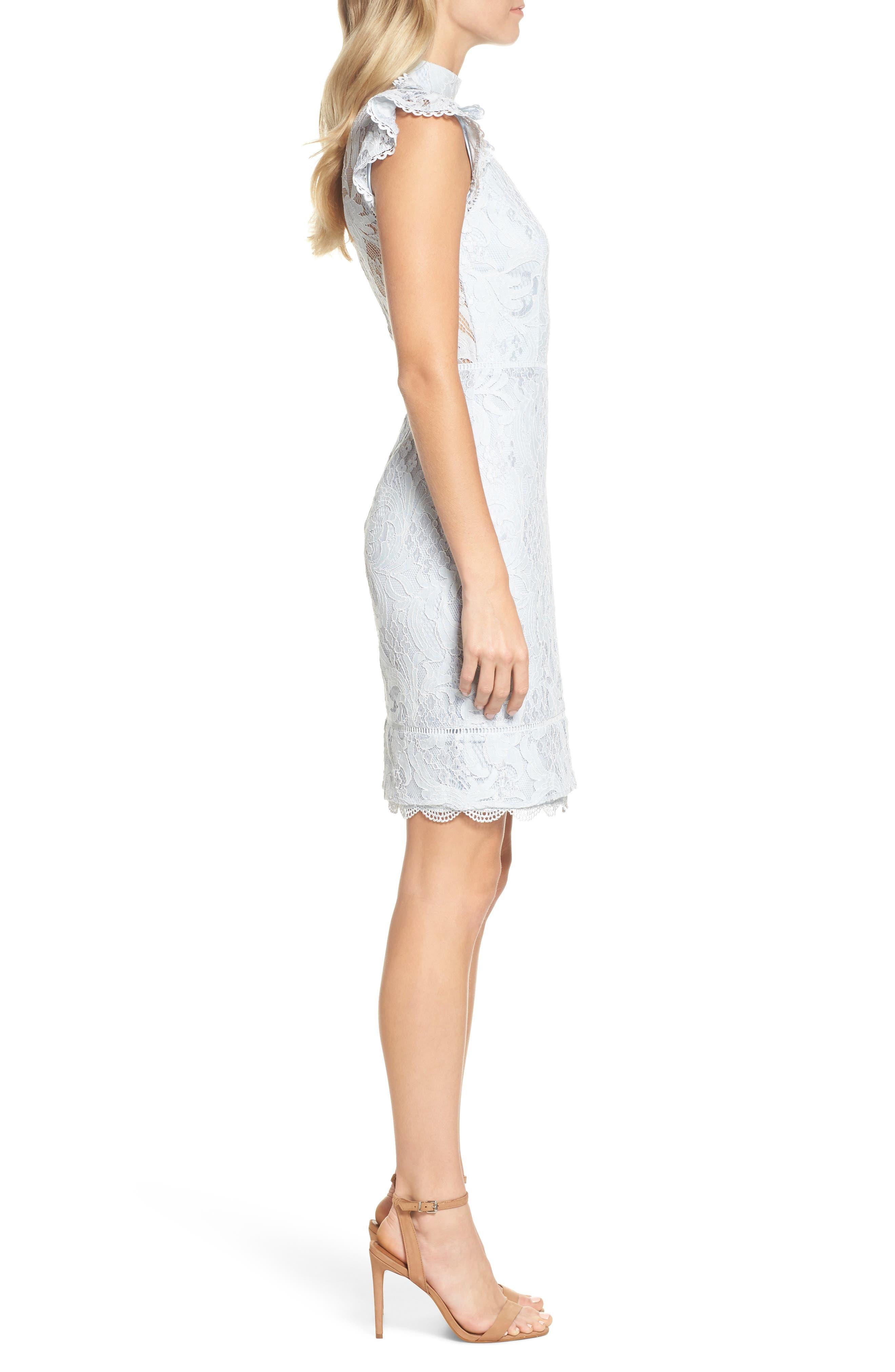 Alternate Image 3  - Adelyn Rae Delilah Lace Sheath Dress
