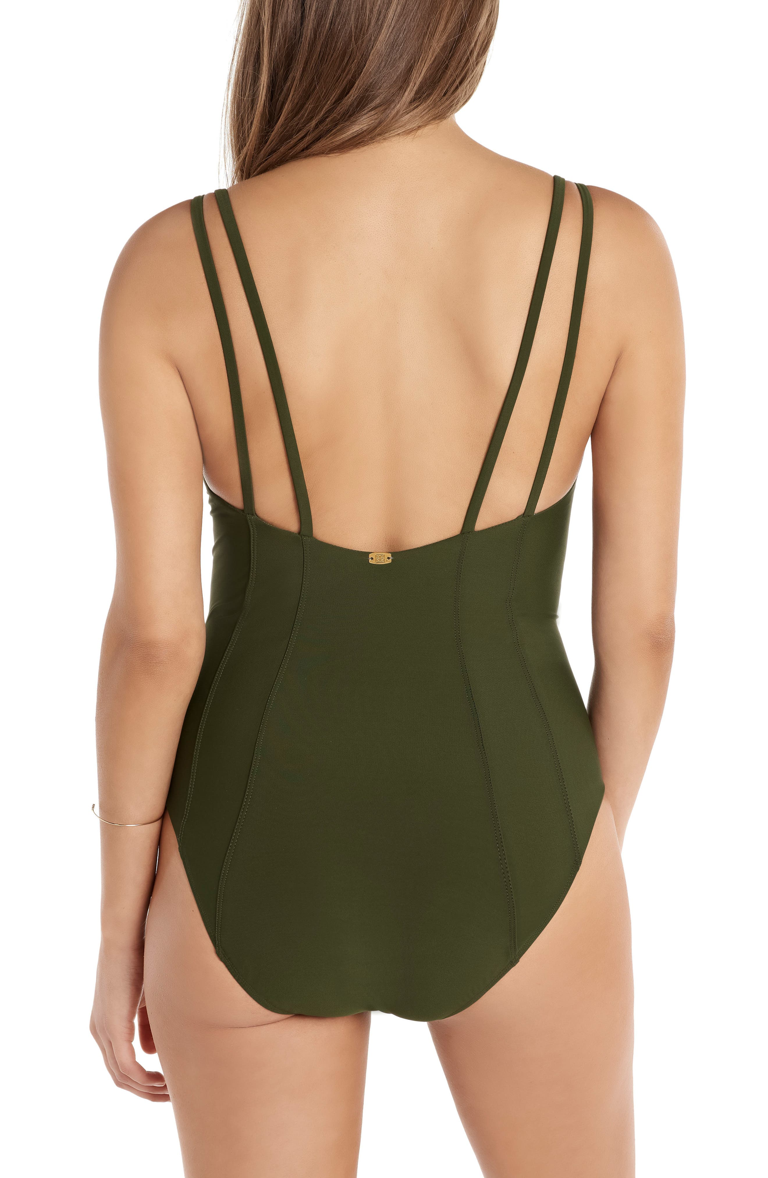 Solid Diana One-Piece Swimsuit,                             Alternate thumbnail 2, color,                             Olive