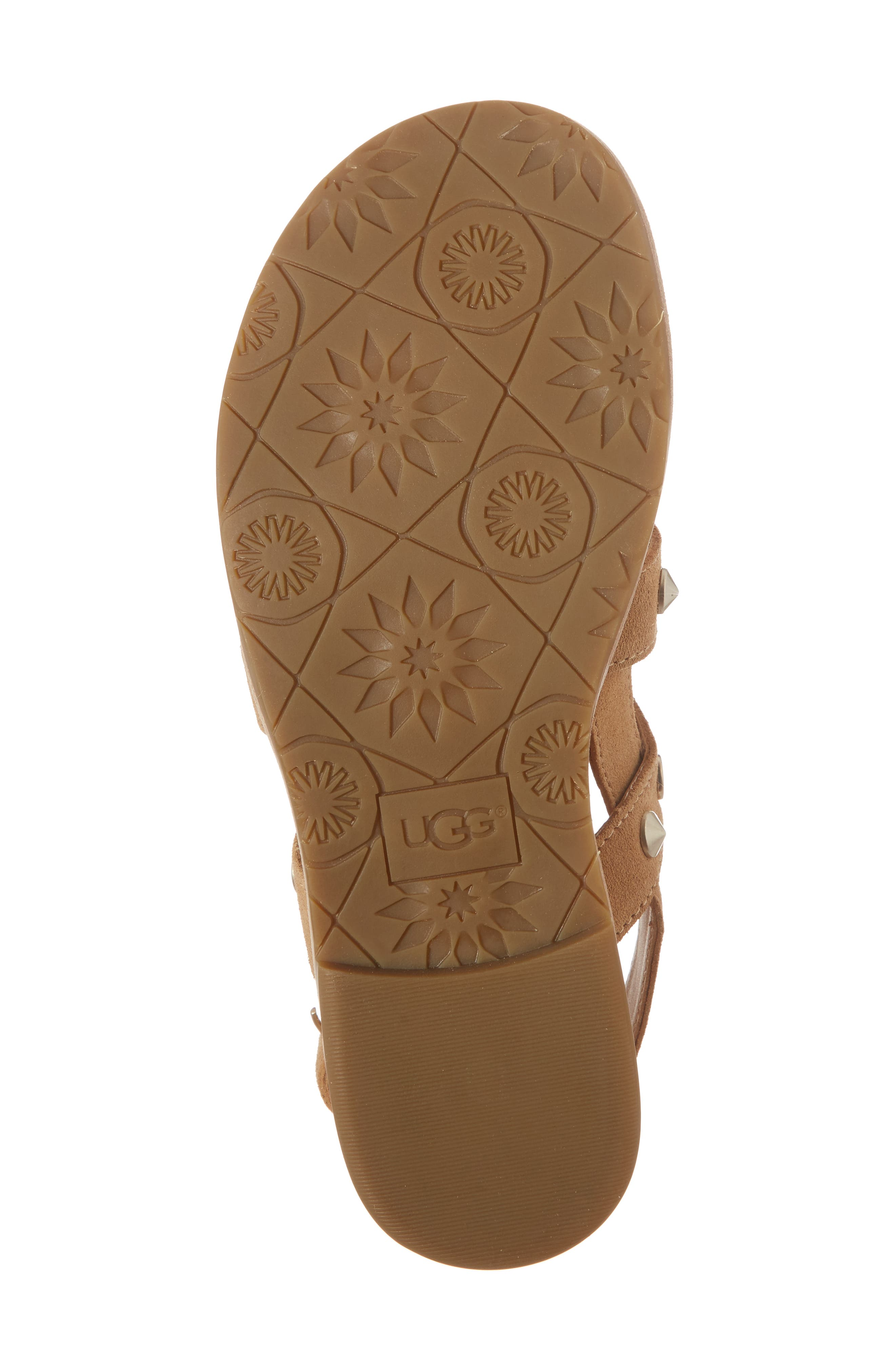 Zariah Studded Sandal,                             Alternate thumbnail 6, color,                             Latte Suede