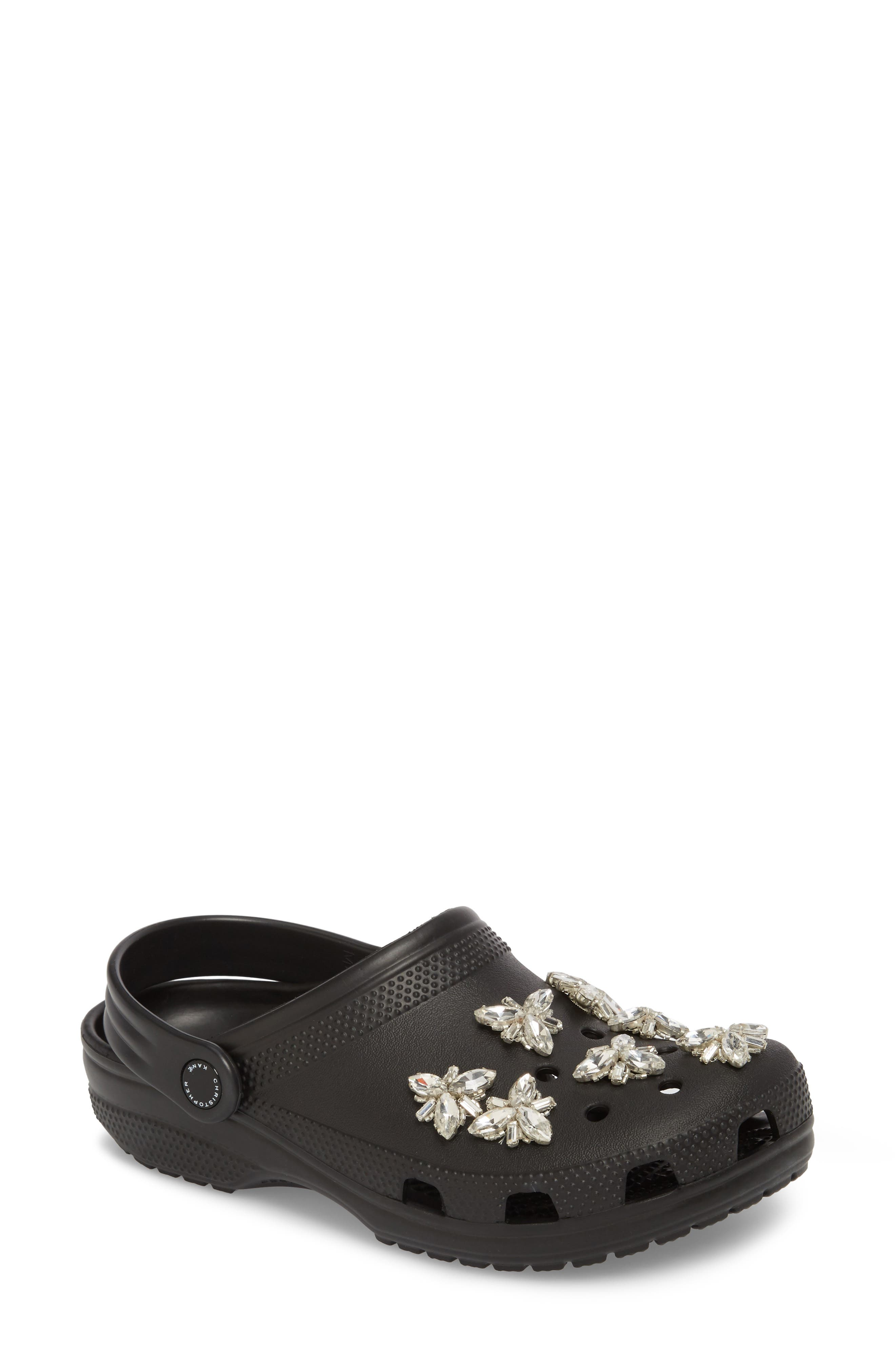 Christopher Kane Crystal Clog Sandal (Women)