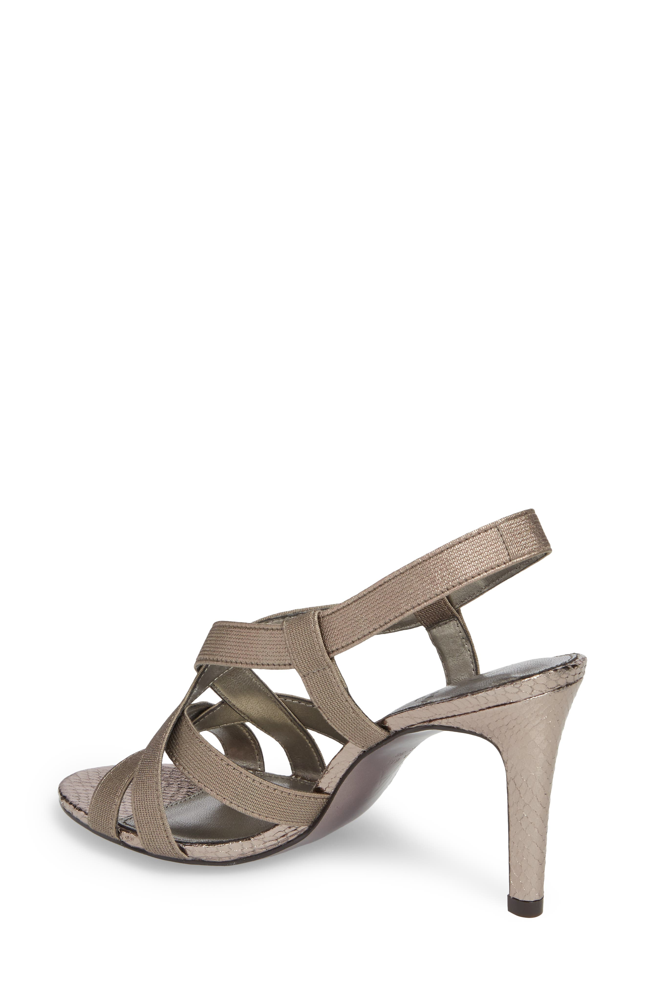 Addie Sandal,                             Alternate thumbnail 2, color,                             Gunmetal Fabric