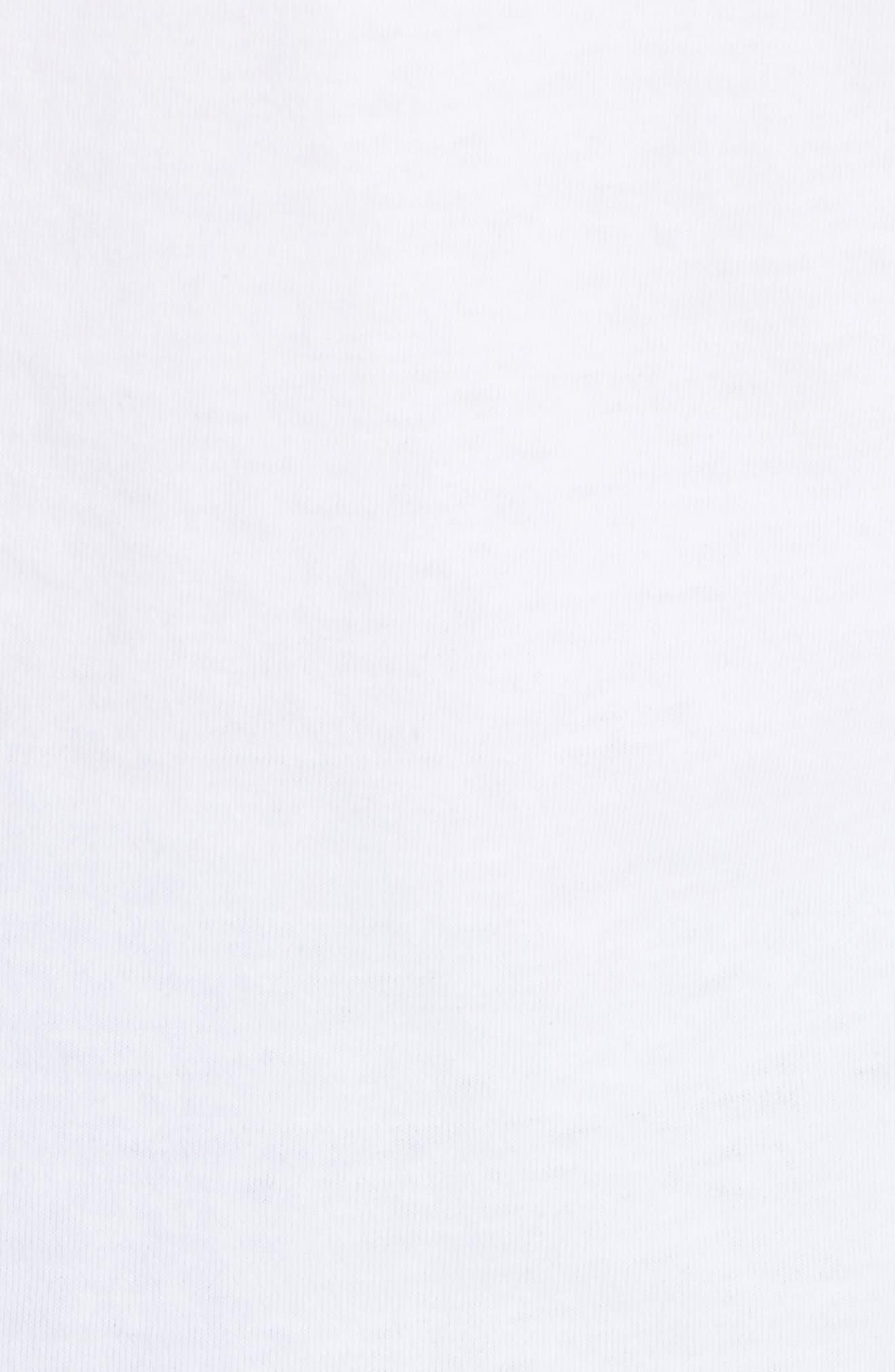 Multicolor Swarovski Embellished Tee,                             Alternate thumbnail 5, color,                             White