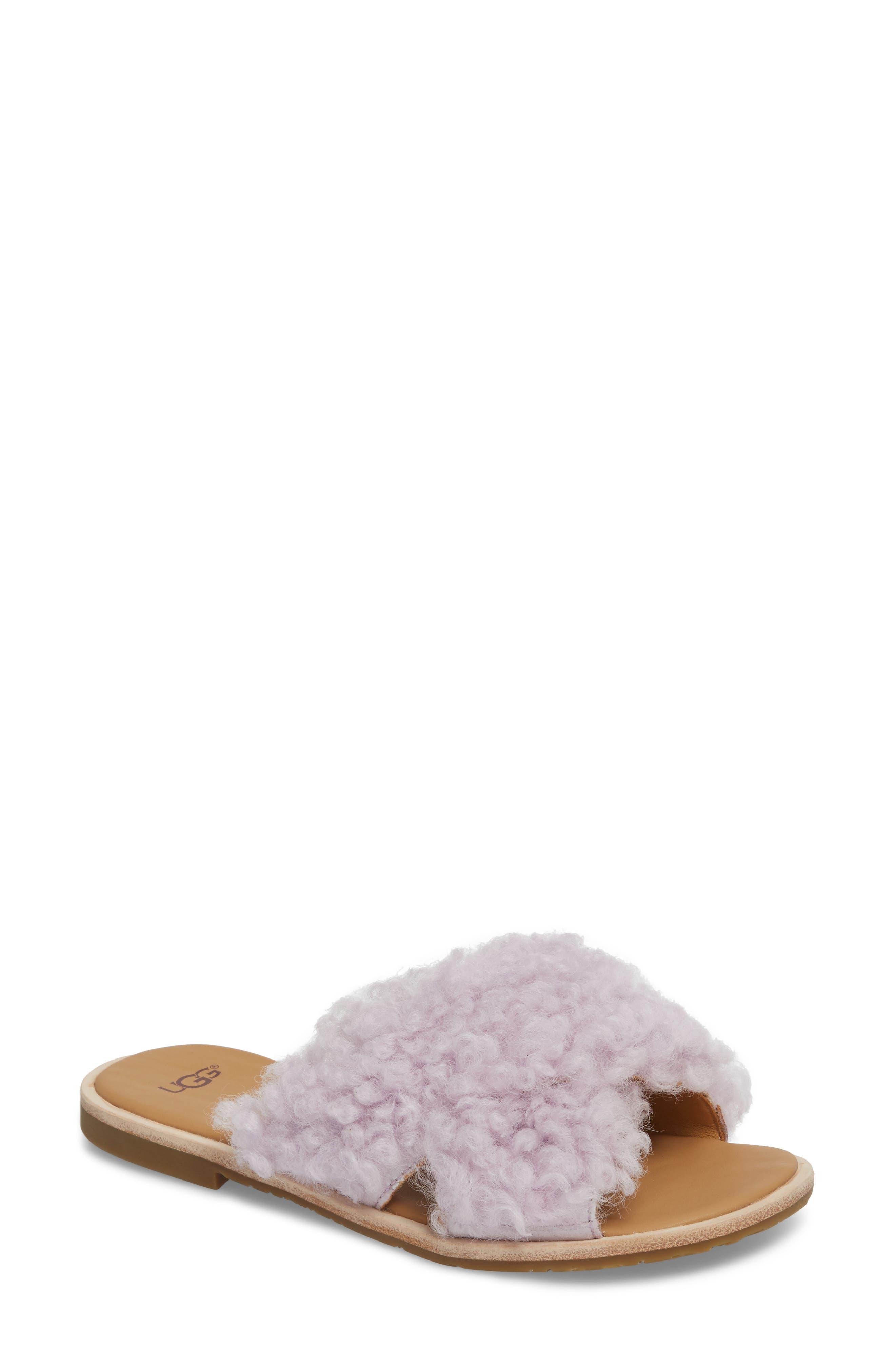 UGG® Joni Genuine Shearling Slide Sandal (Women)