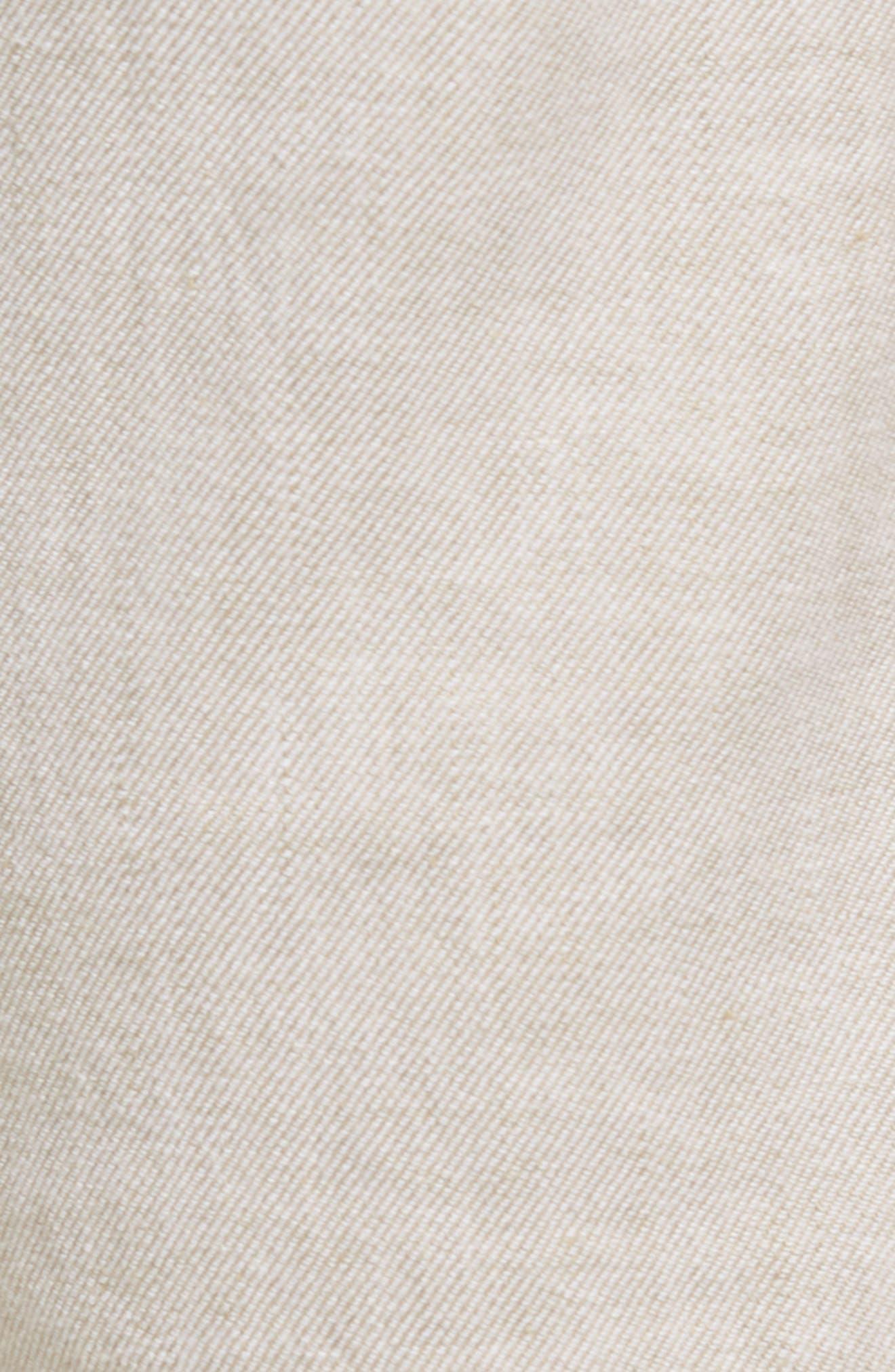 Beach Linen Blend Pants,                             Alternate thumbnail 5, color,                             Stone Khaki