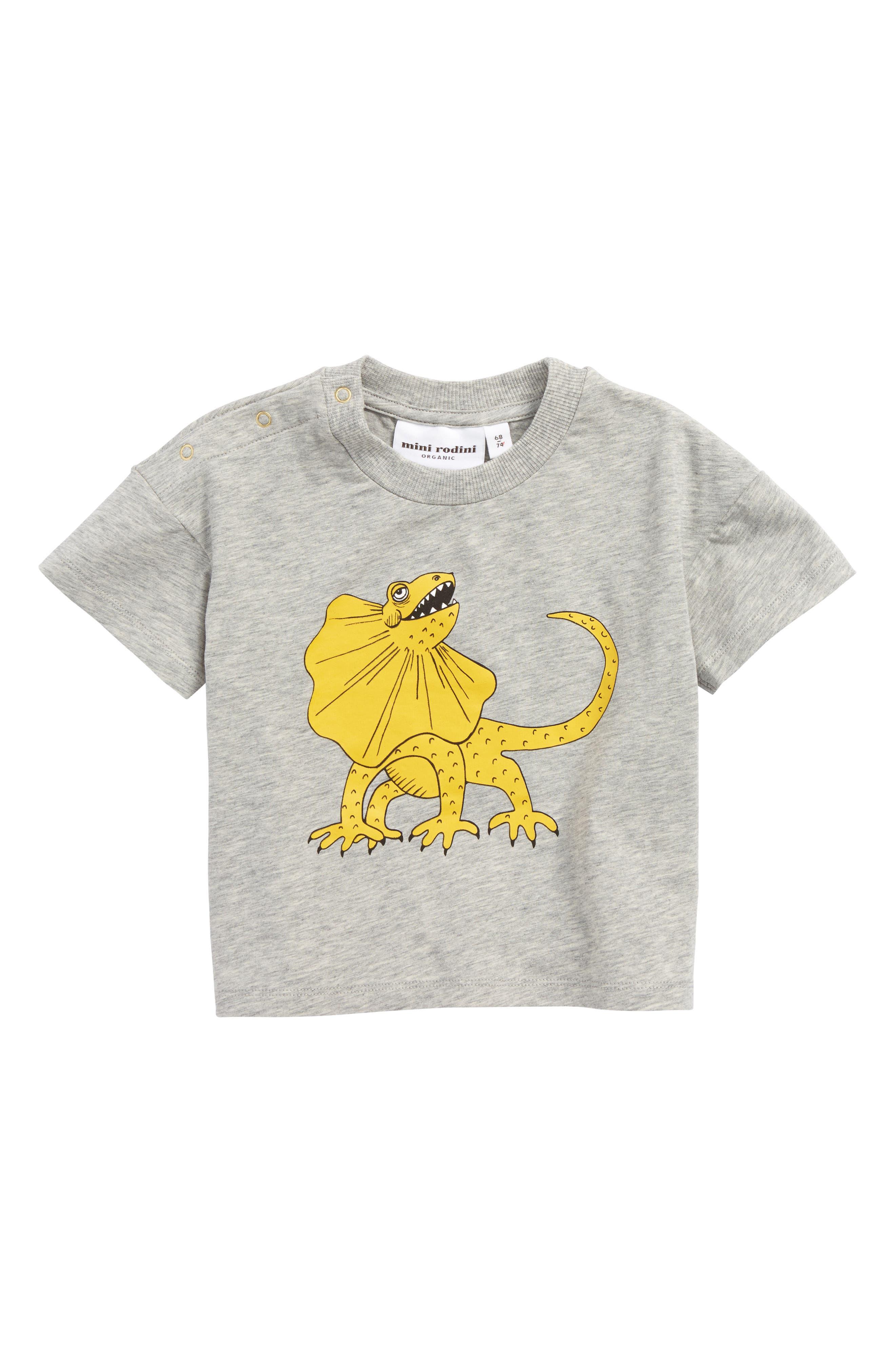 Draco Organic Cotton Blend T-Shirt,                             Main thumbnail 1, color,                             Grey Melange