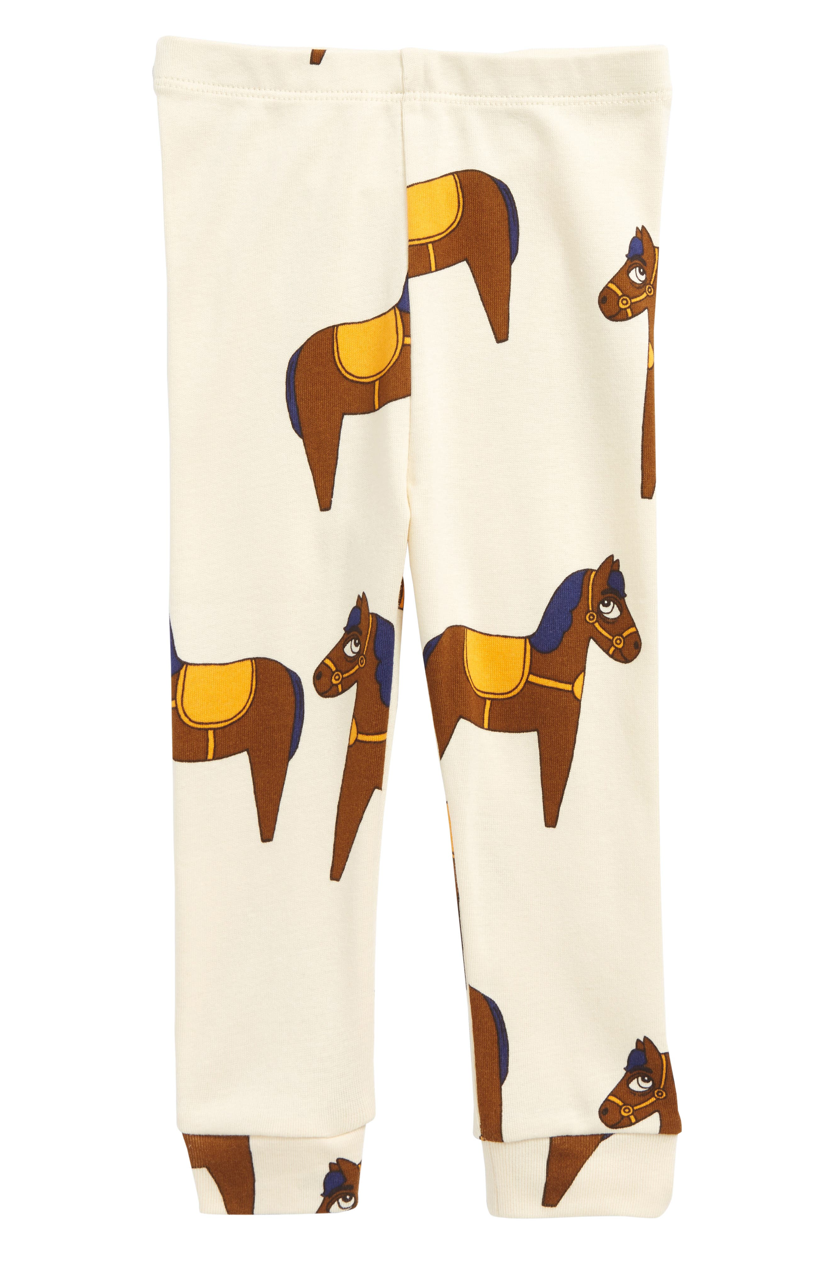 Mini Rodini Horse Organic Cotton Pants (Baby Boys)
