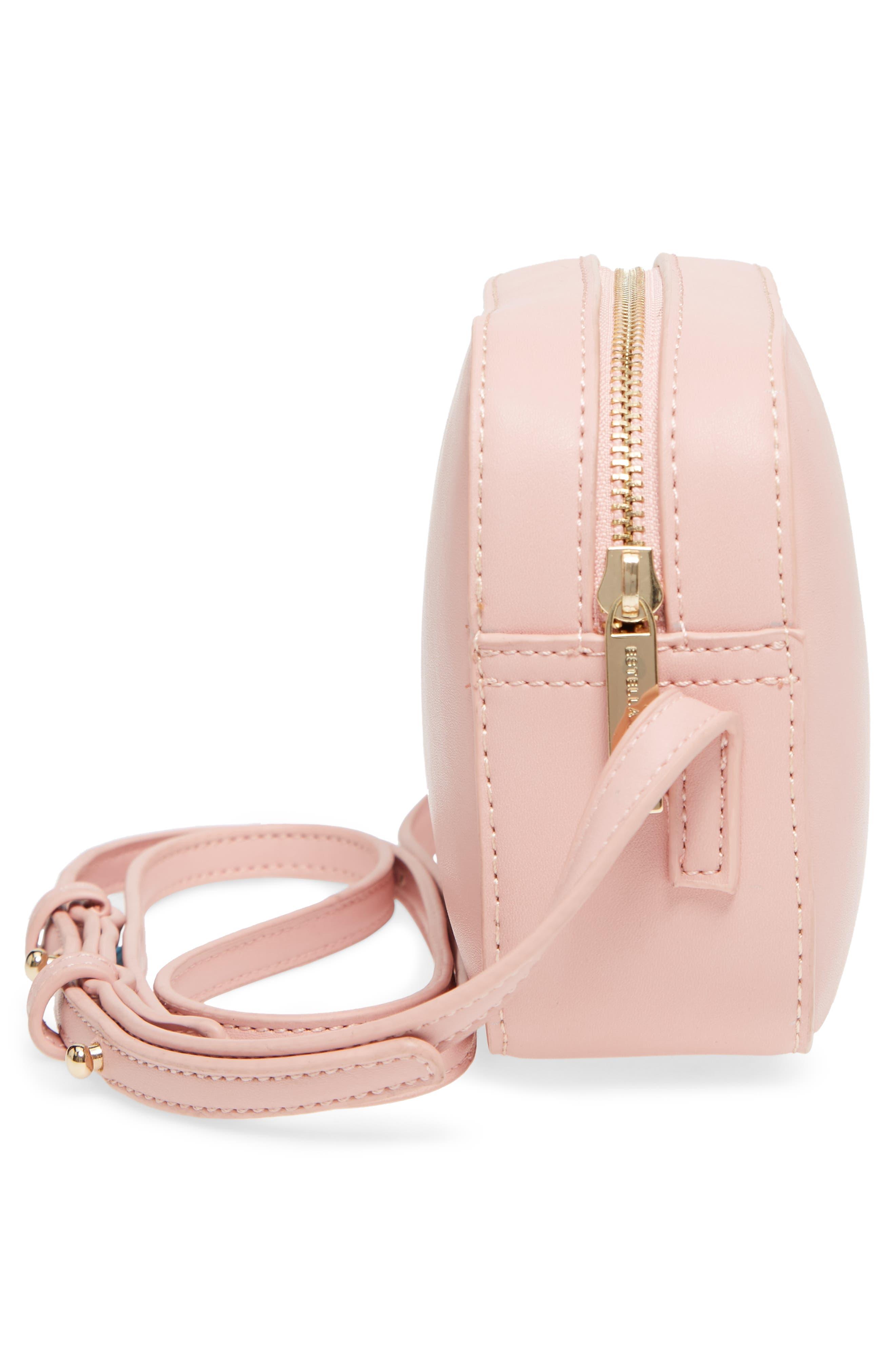 Faux Leather Box Bag,                             Alternate thumbnail 5, color,                             Pink