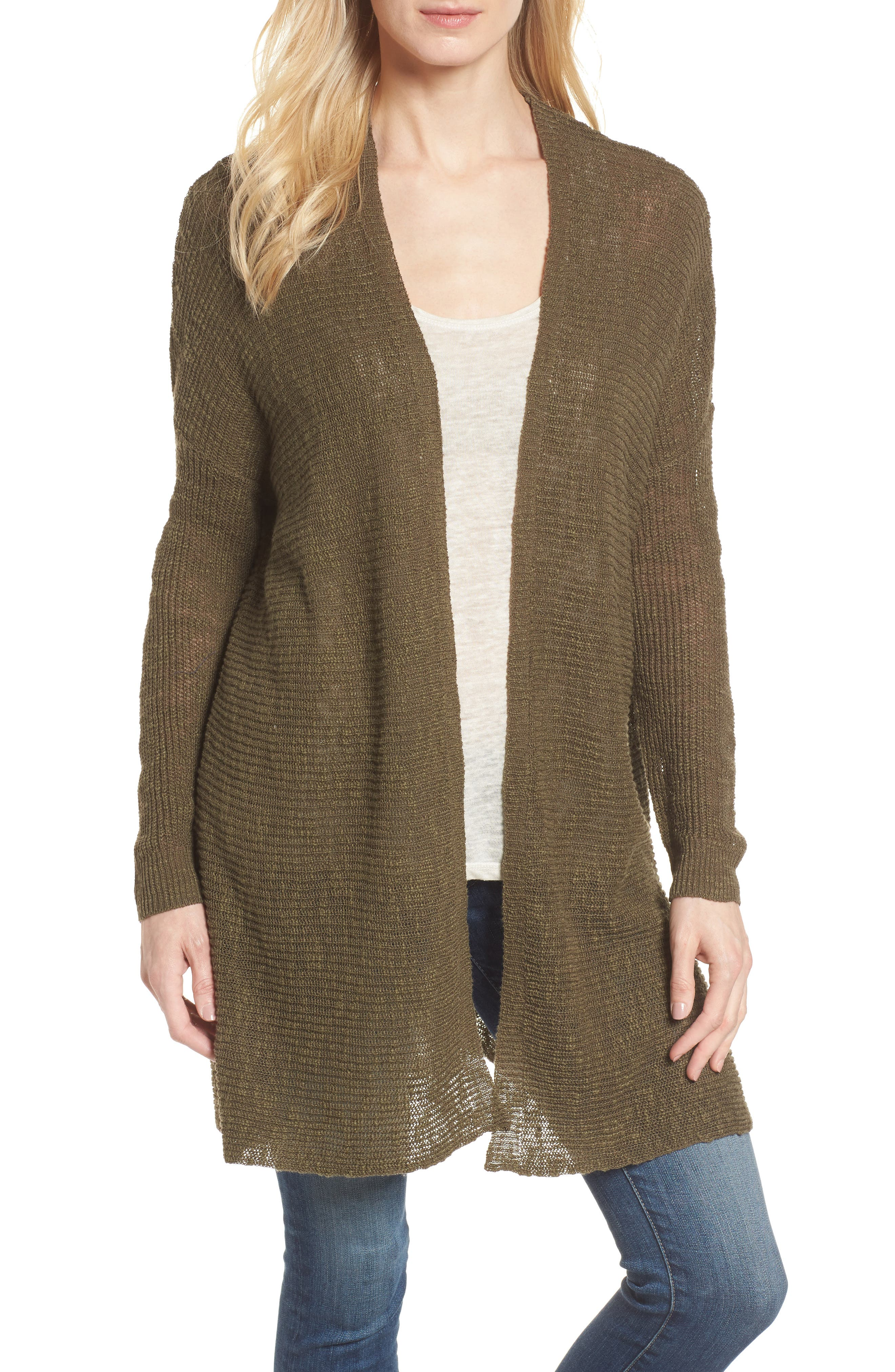 Caslon® Open Cardigan (Regular & Petite)