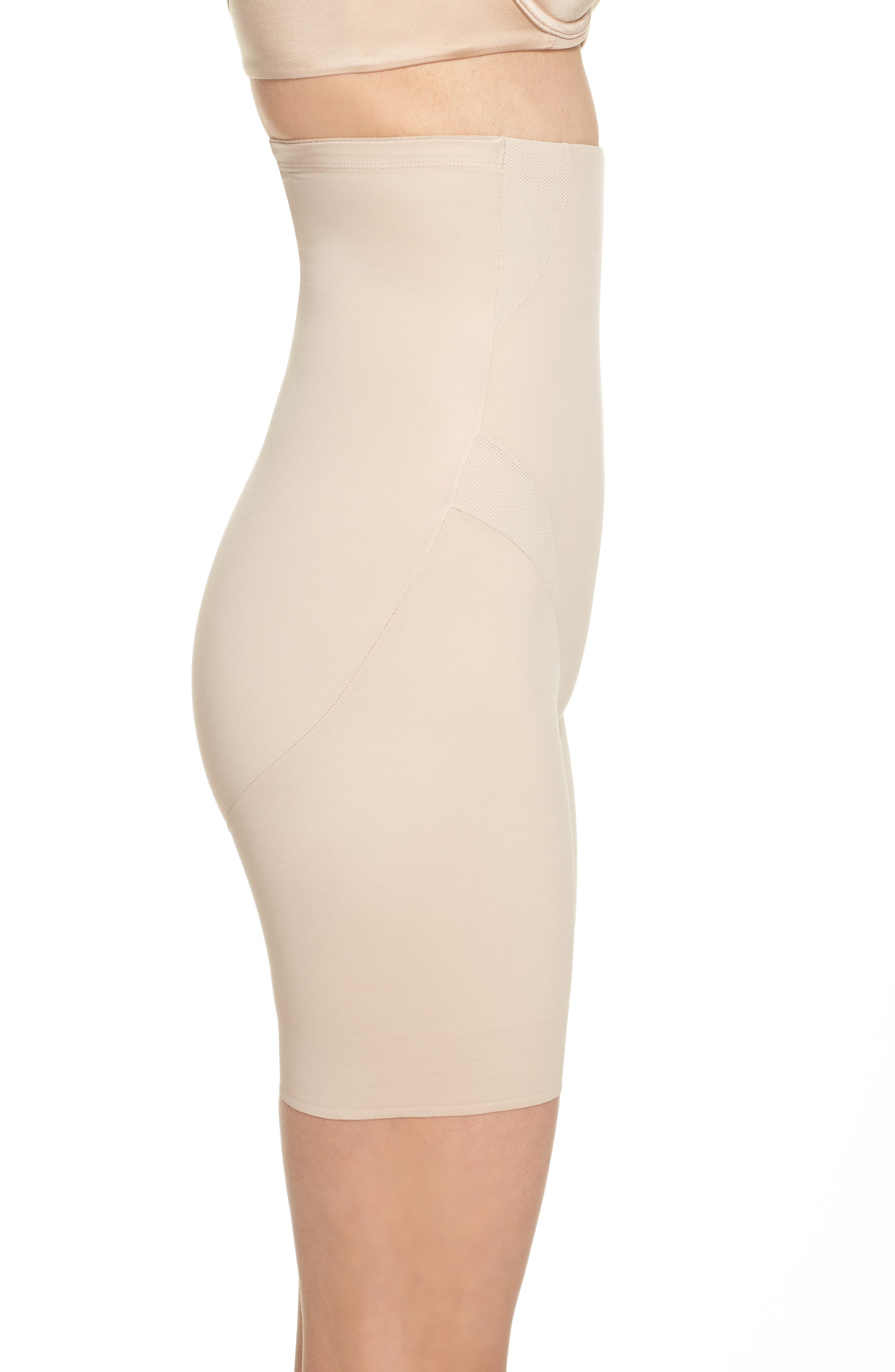 Cooling High Waist Shaping Boyshorts,                             Alternate thumbnail 3, color,                             Nude