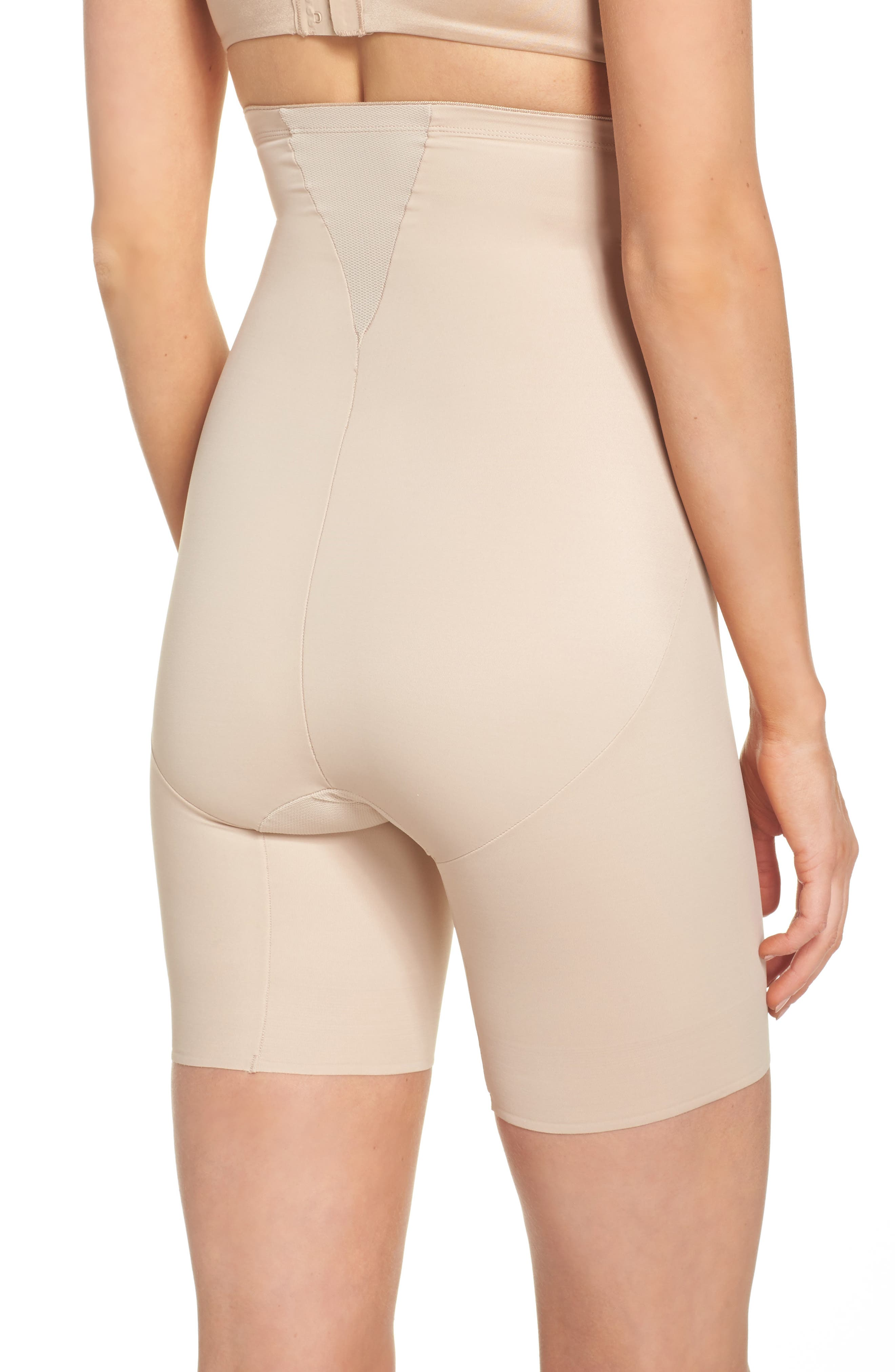 Cooling High Waist Shaping Boyshorts,                             Alternate thumbnail 2, color,                             Nude
