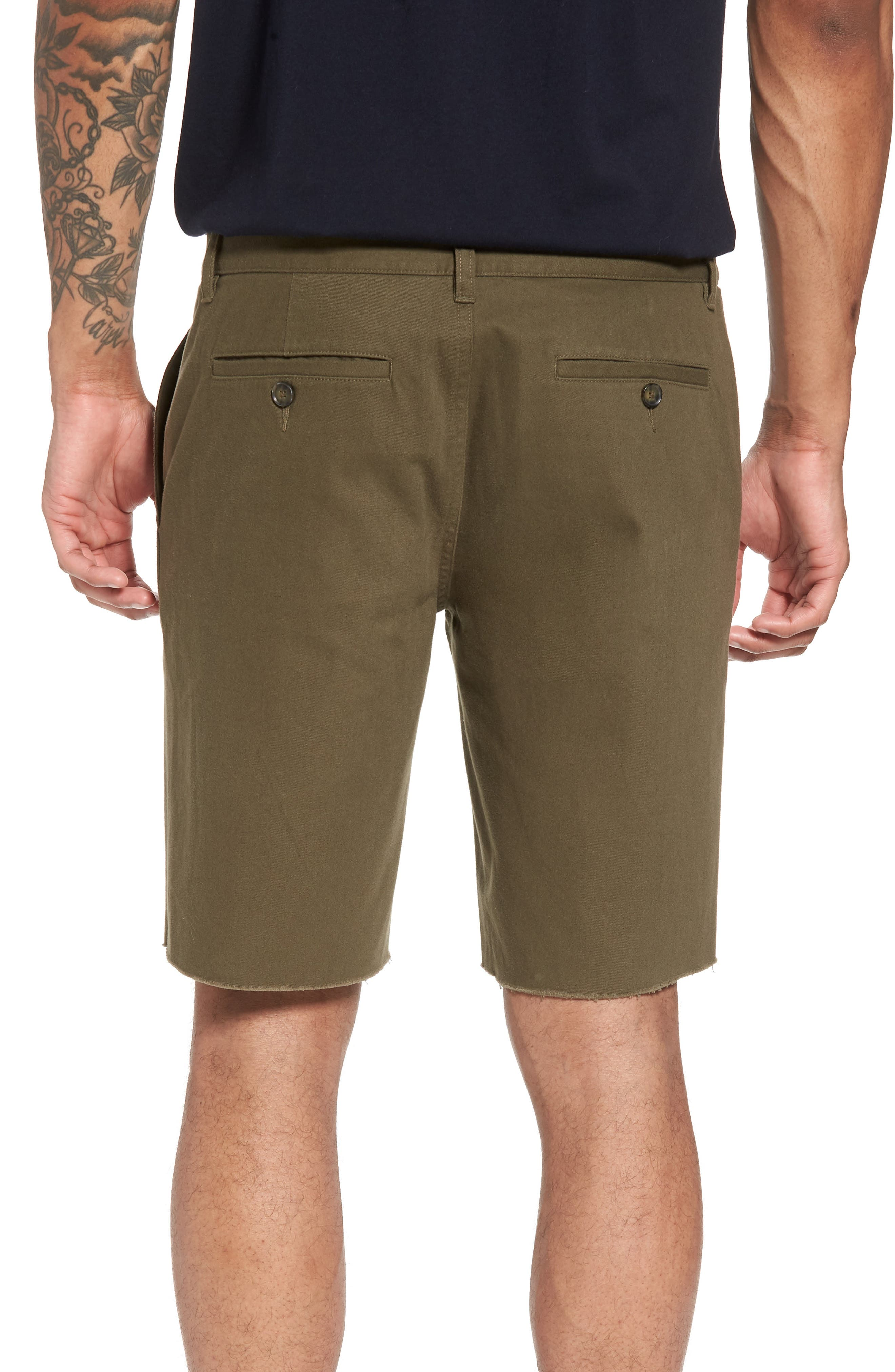 Slim Fit Chino Shorts,                             Alternate thumbnail 2, color,                             Camp Green