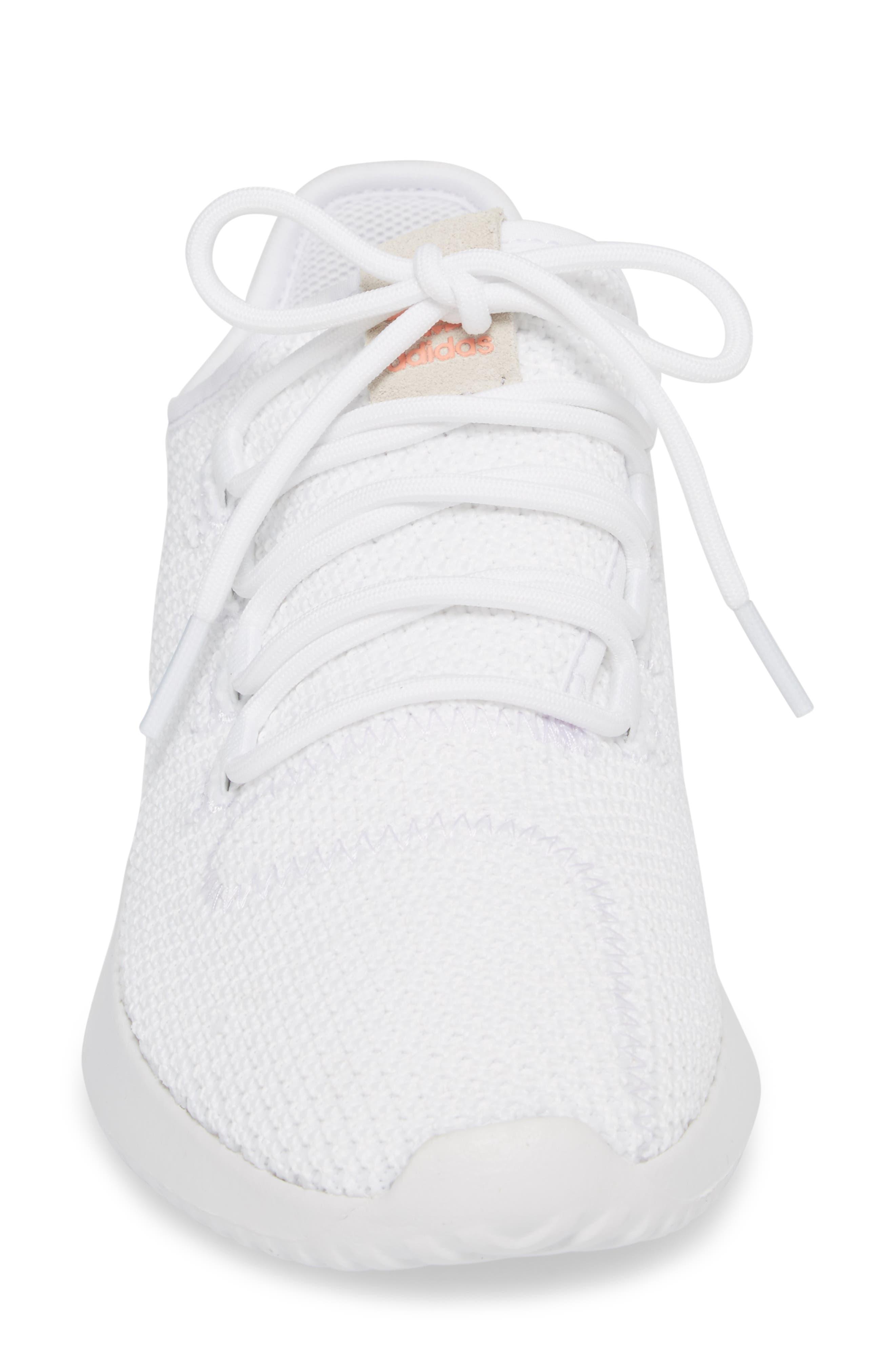 Tubular Shadow Sneaker,                             Alternate thumbnail 5, color,                             White/ White/ Core Black