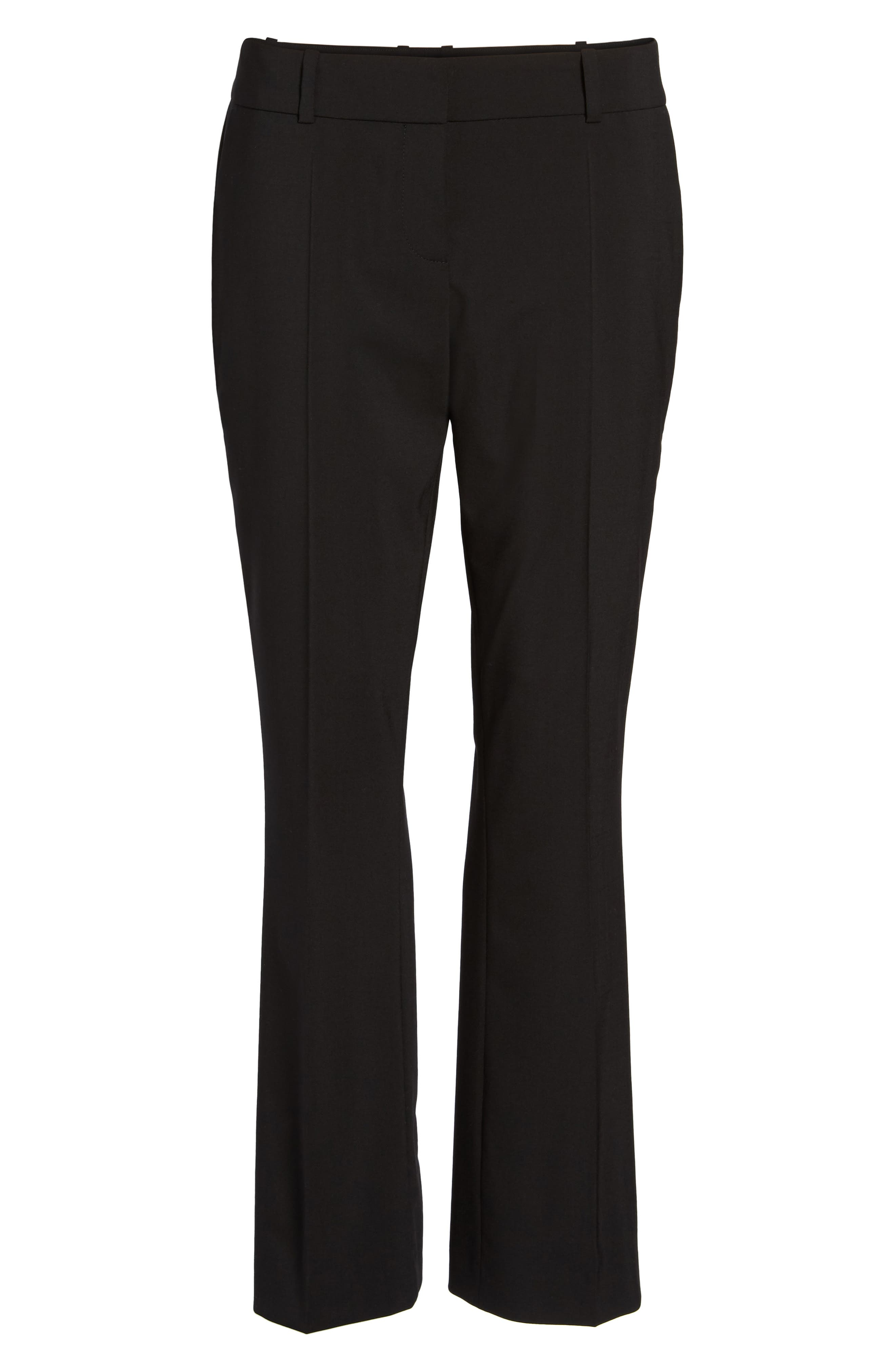 Talenara Tropical Stretch Wool Ankle Trousers,                             Alternate thumbnail 8, color,                             Black