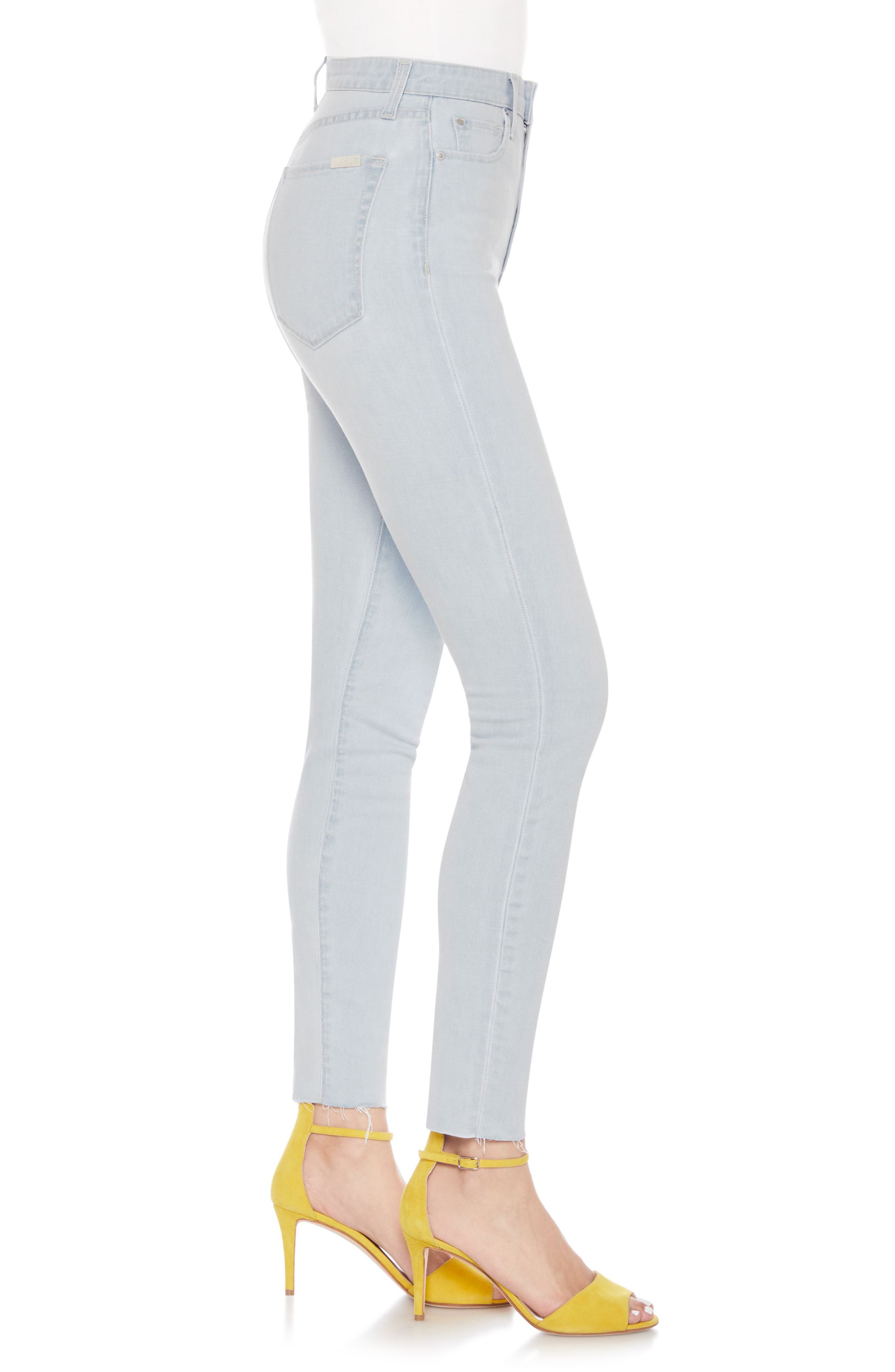 The Bella Super High Waist Ankle Skinny Jeans,                             Alternate thumbnail 3, color,                             Wylla