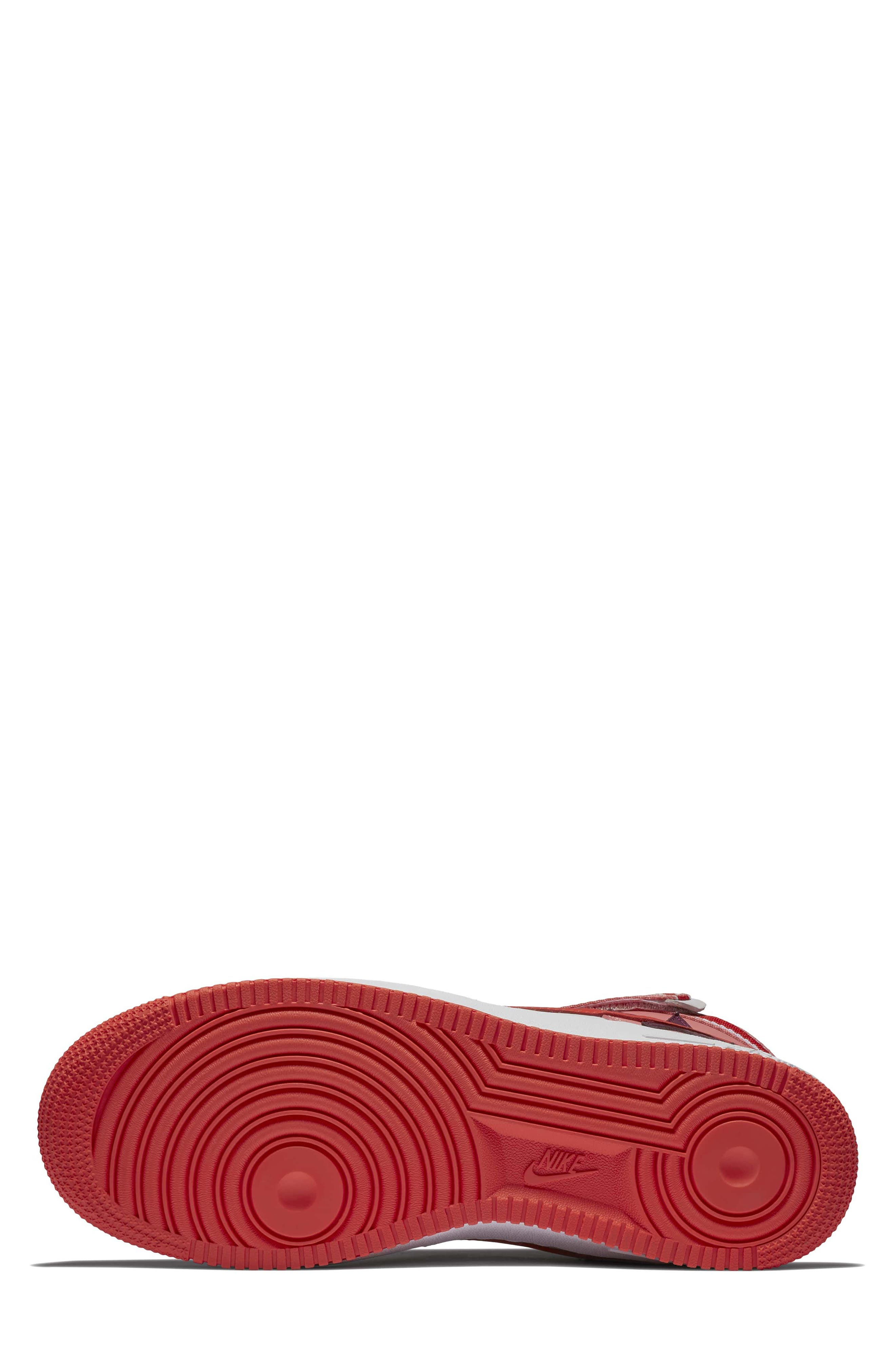 Air Force 1 High RT Sneaker,                             Alternate thumbnail 5, color,                             Coral/ Bordeax/ Orange/ Black