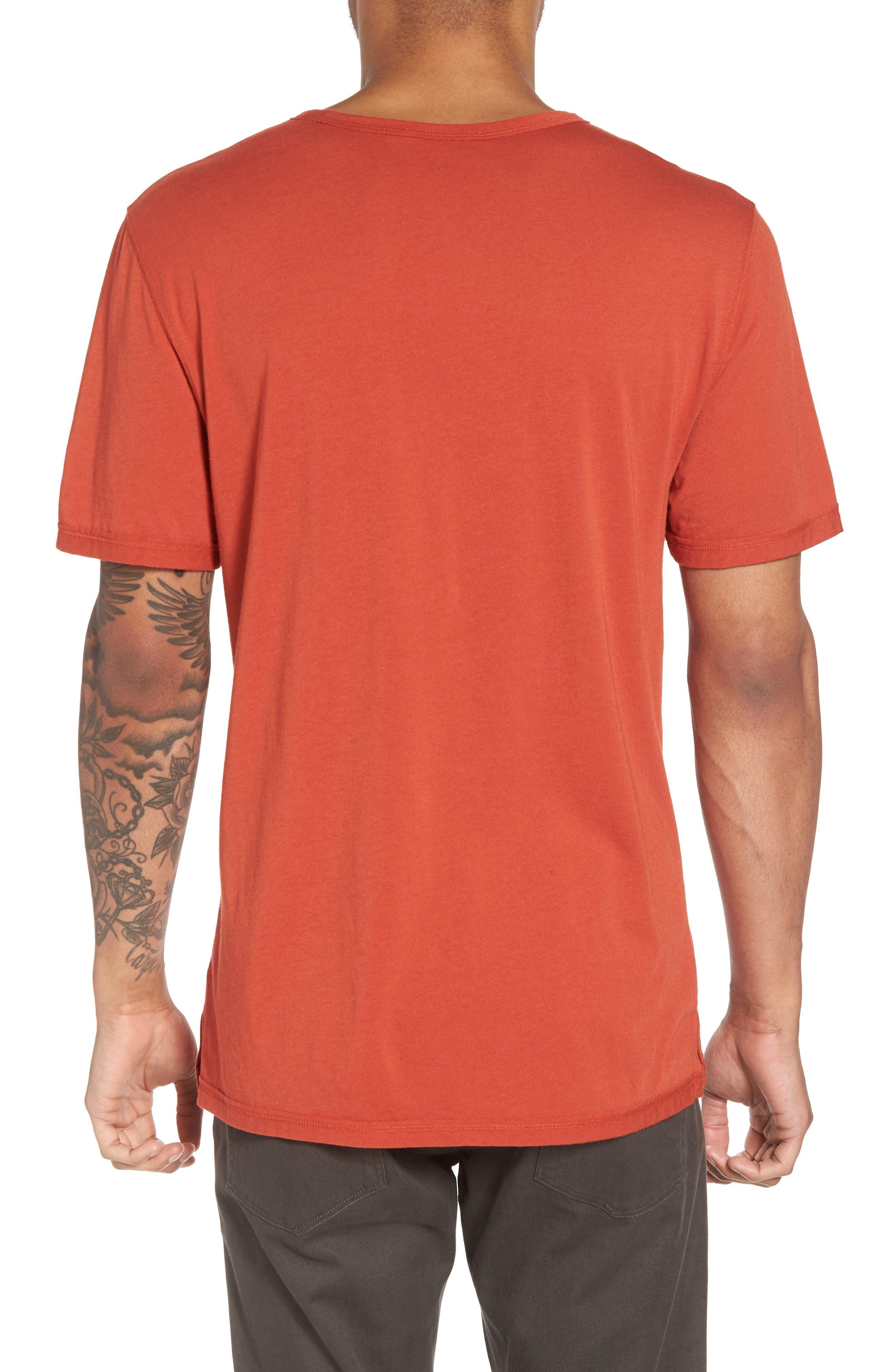 Reverse Hem Slim Fit T-Shirt,                             Alternate thumbnail 2, color,                             Ginger