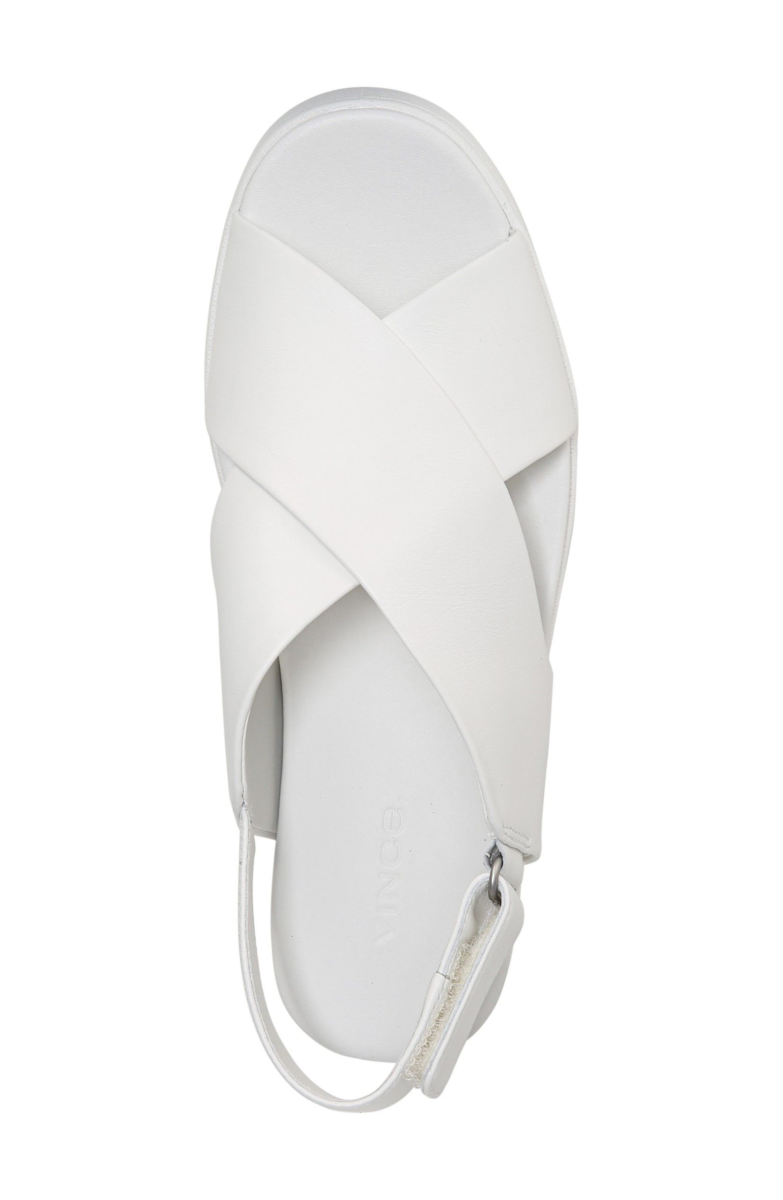 Weslan Cross Strap Slingback Sandal,                             Alternate thumbnail 5, color,                             Horchata