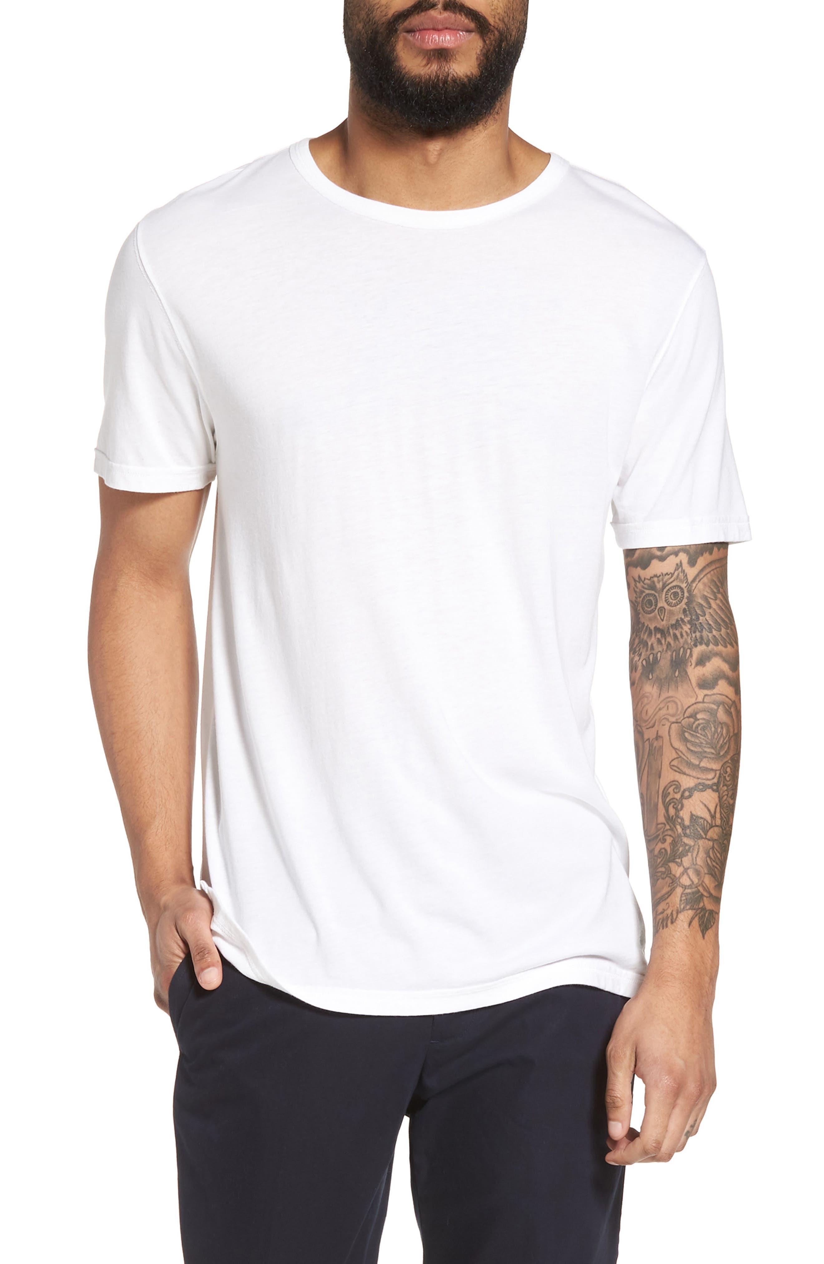 Alternate Image 1 Selected - Vince Reverse Hem Slim Fit T-Shirt