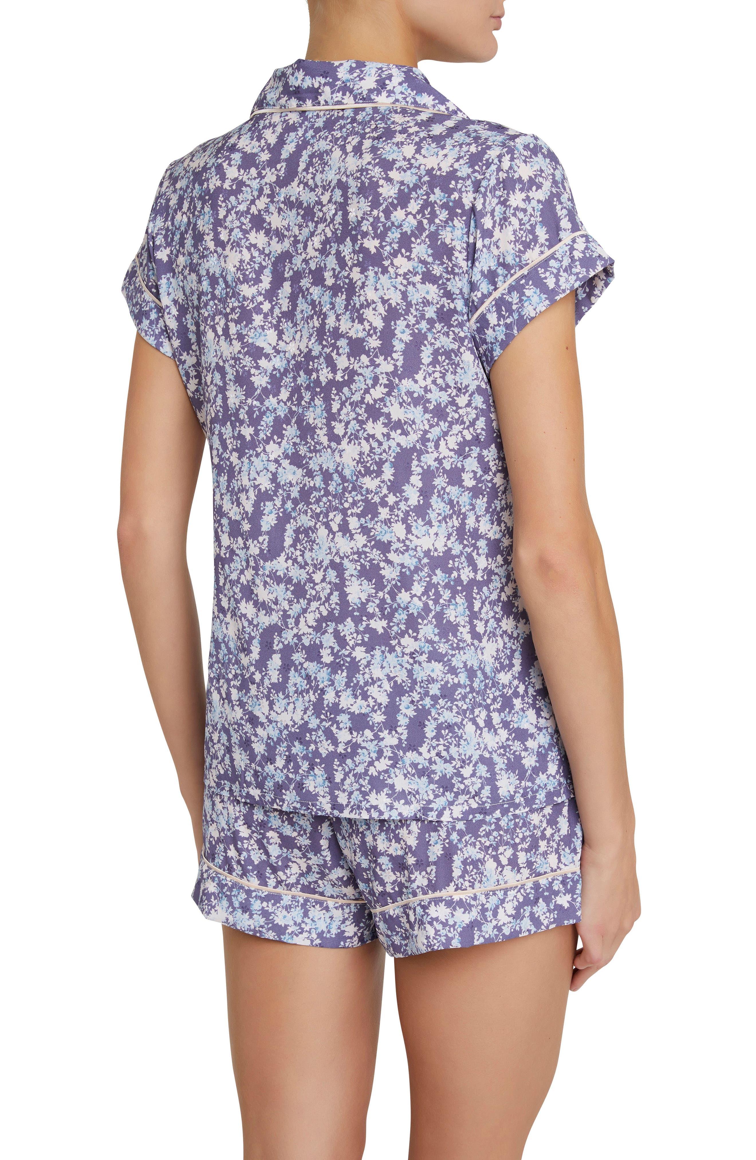 Lily Short Pajamas,                             Alternate thumbnail 2, color,                             Blue Floral Print