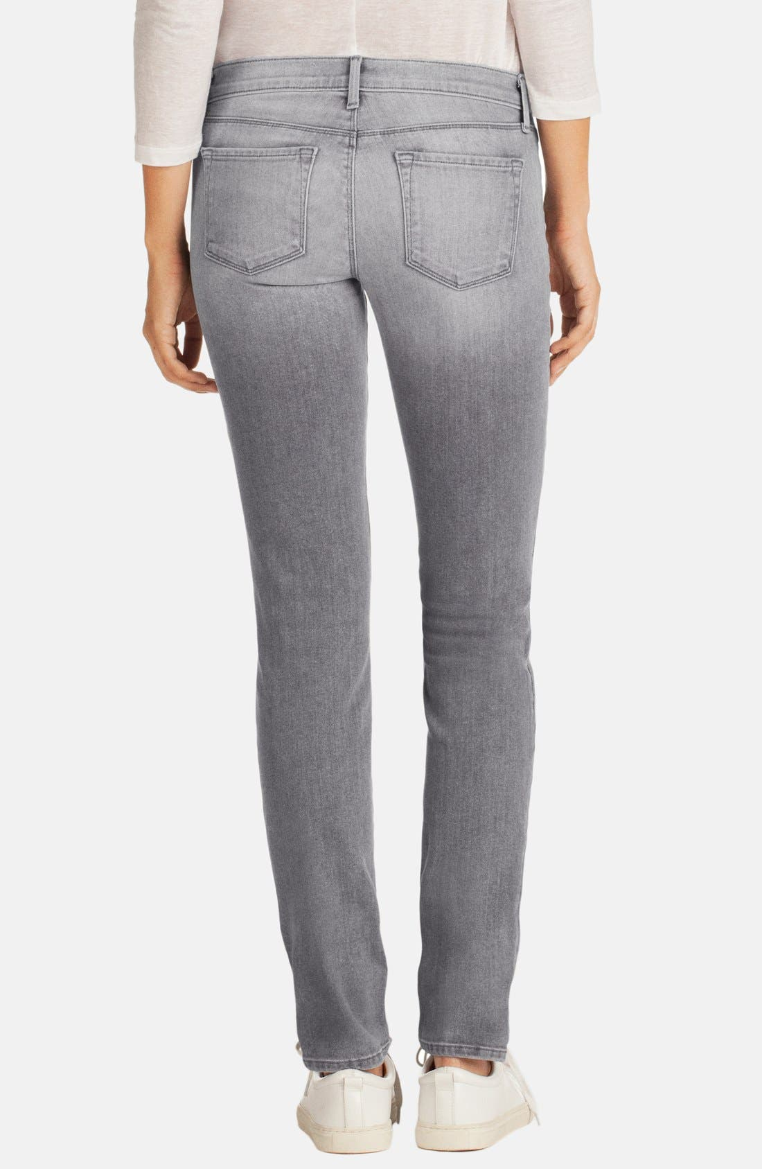 Alternate Image 2  - J Brand Destructed Mid Rise Jeans (Sweet)
