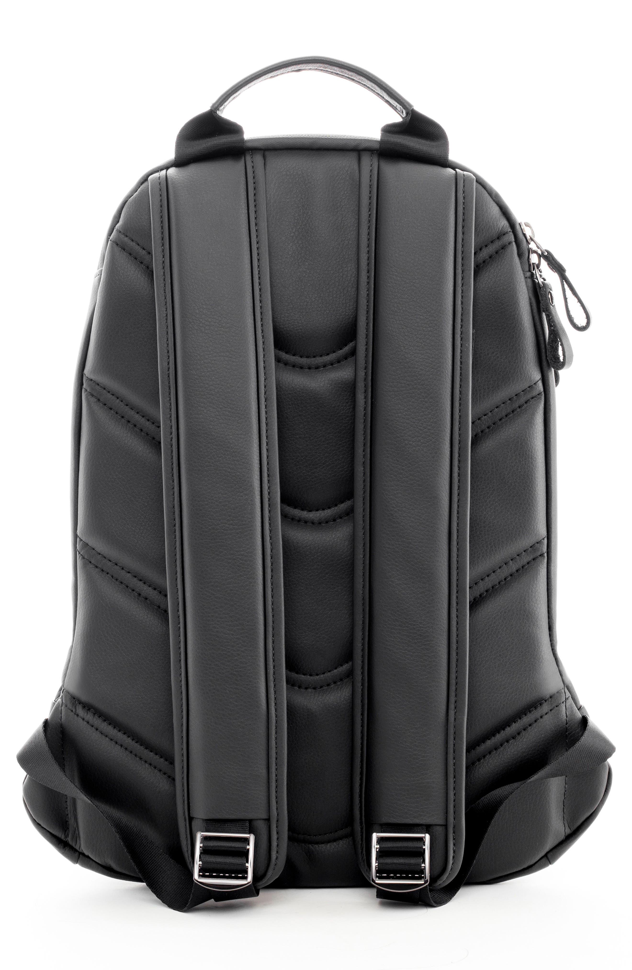 Mini Faux Leather Backpack,                             Alternate thumbnail 3, color,                             Matte/ Croc