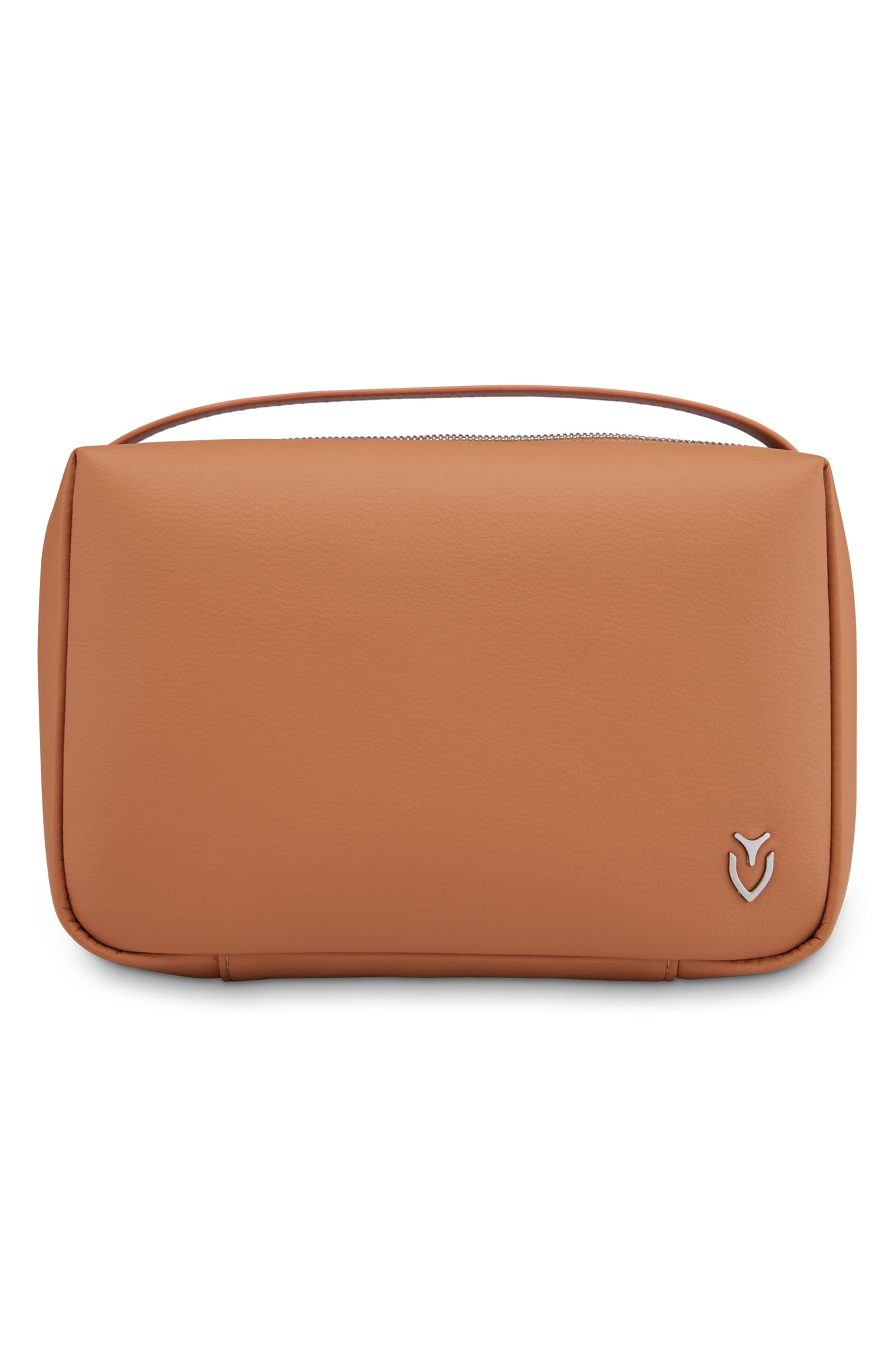 Signature 2.0 Faux Leather Toiletry Case,                         Main,                         color, Pebbled Tan