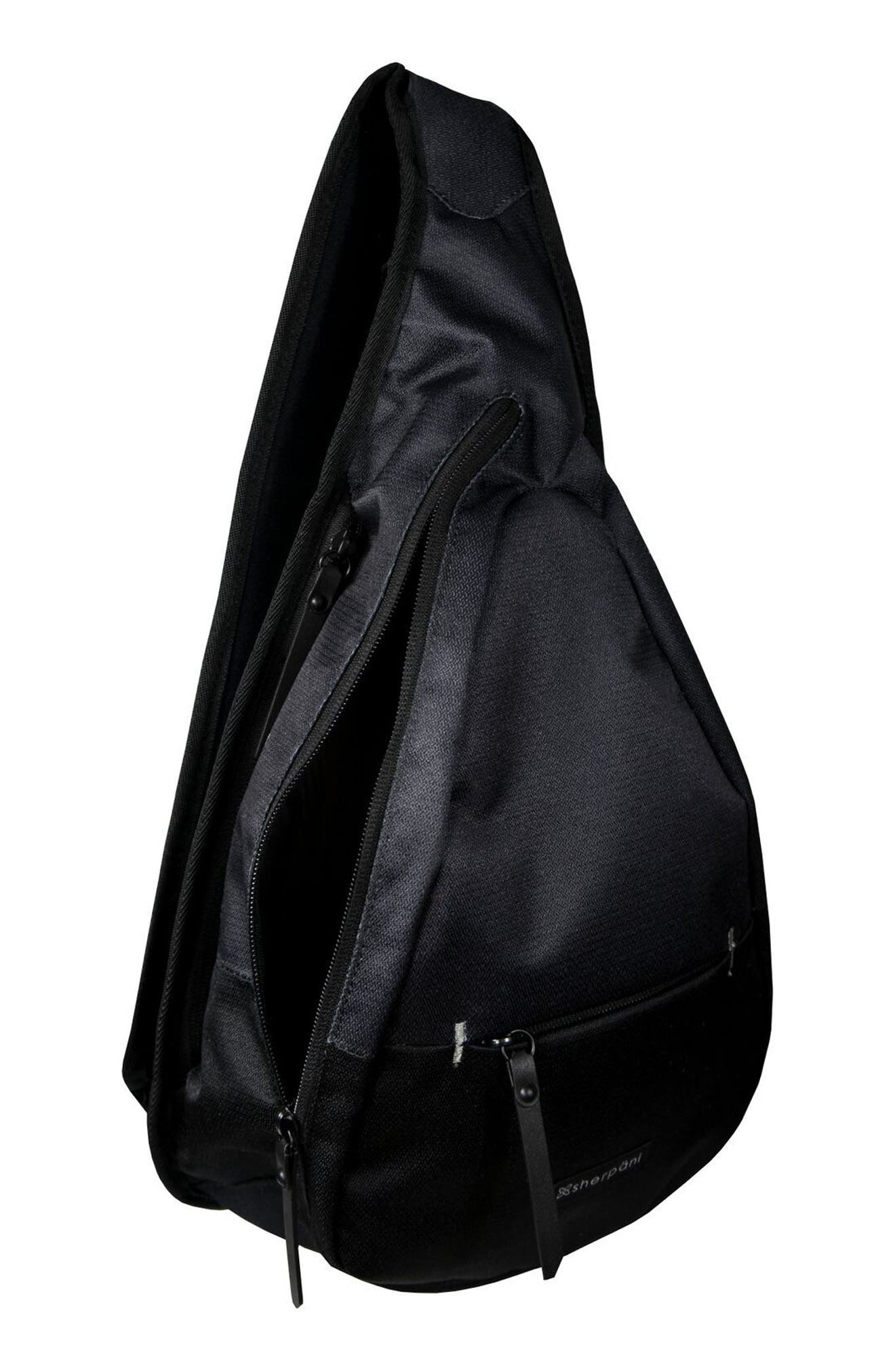 Esprit RFID Sling Backpack,                             Alternate thumbnail 4, color,                             Raven