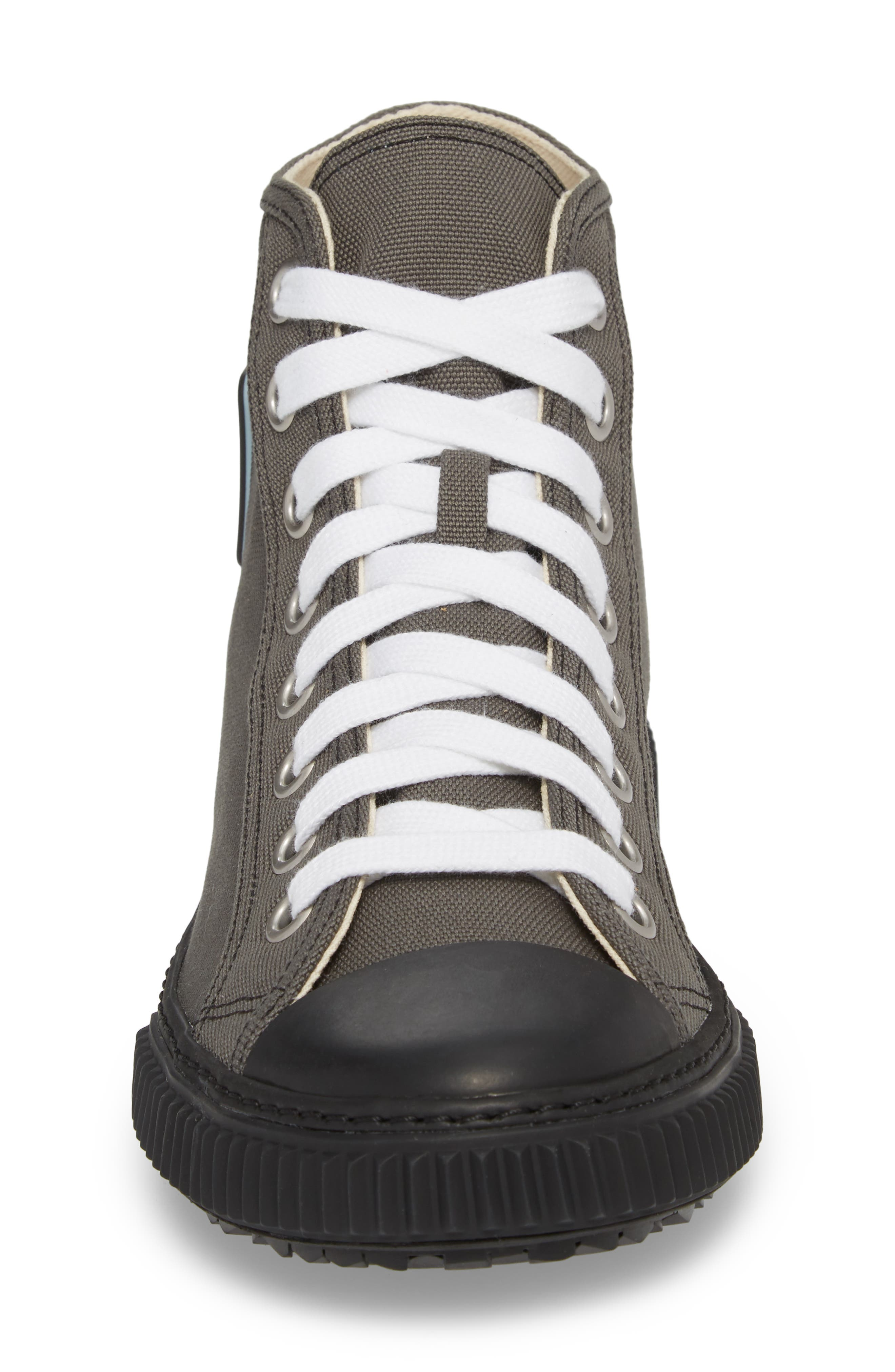 Cap Toe High Top Sneaker,                             Alternate thumbnail 4, color,                             Ardesia Nero