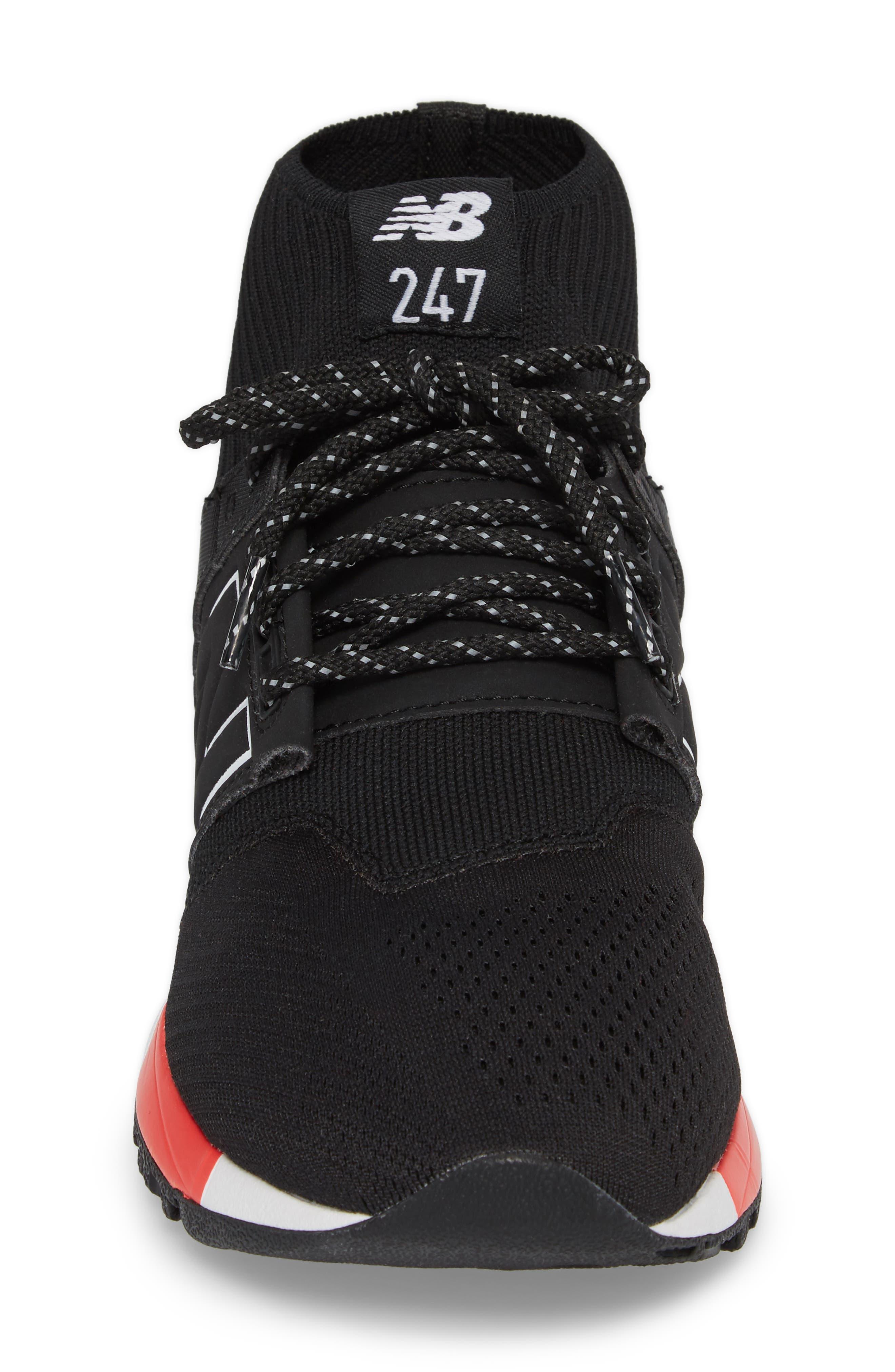 247 Mid Sneaker,                             Alternate thumbnail 4, color,                             Black