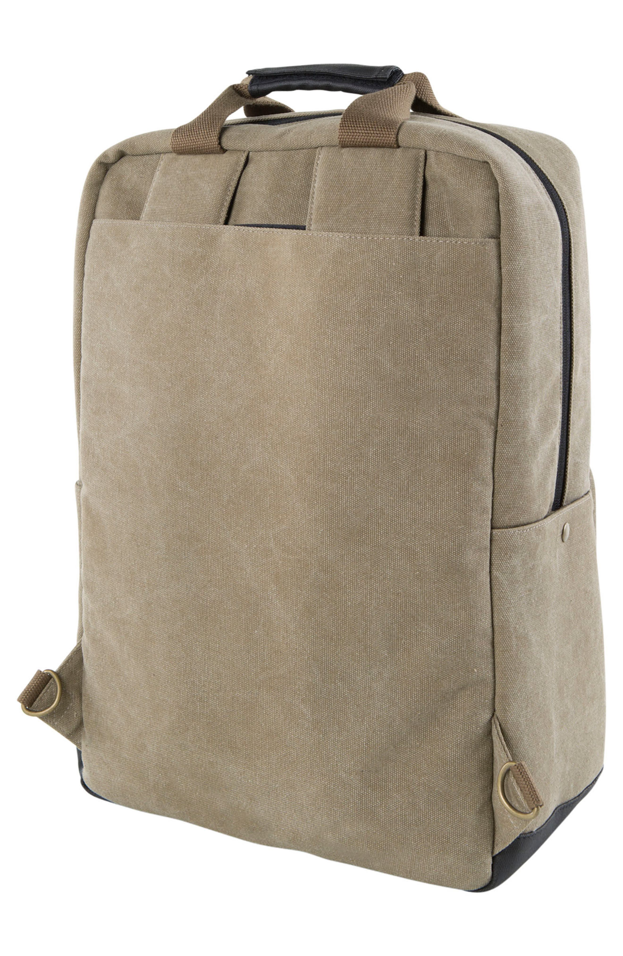 Supply Convertible Water Resistant Backpack,                             Alternate thumbnail 6, color,                             Khaki
