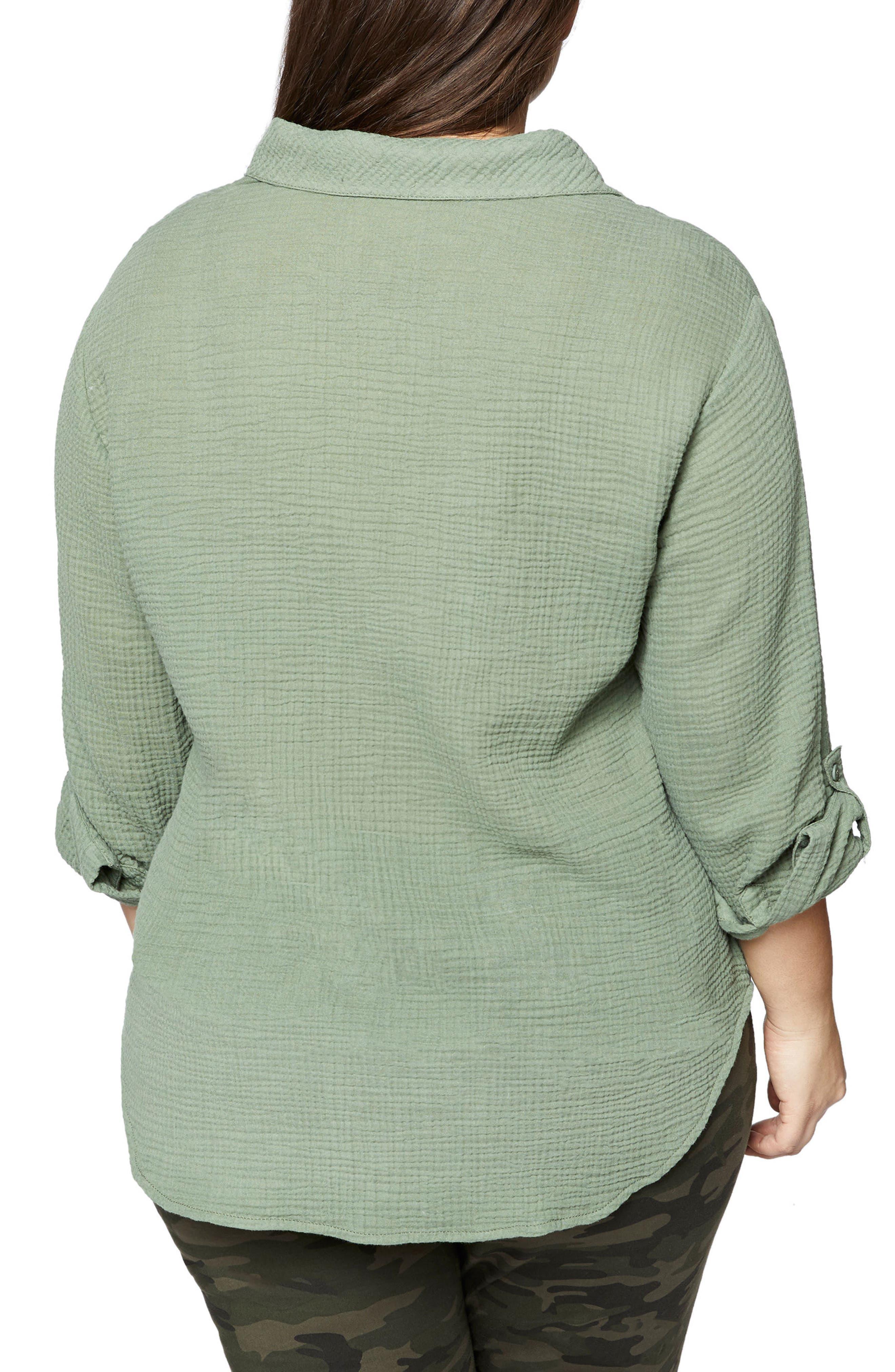 Steady Boyfriend Shirt,                             Alternate thumbnail 2, color,                             Cadet