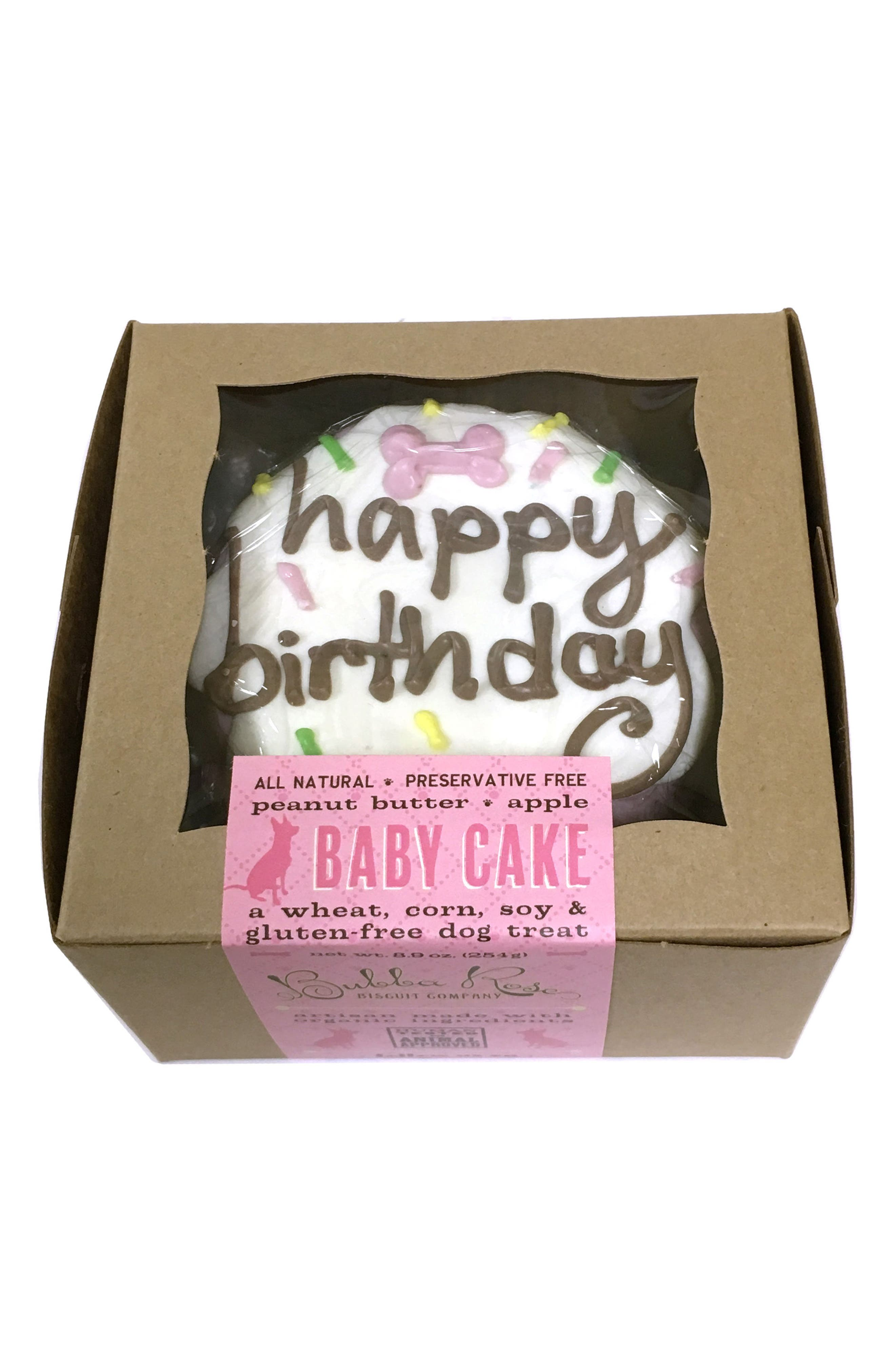 Bubba Rose Biscuit Company Pink Birthday Baby Cake Dog Treat,                             Alternate thumbnail 2, color,                             Pink