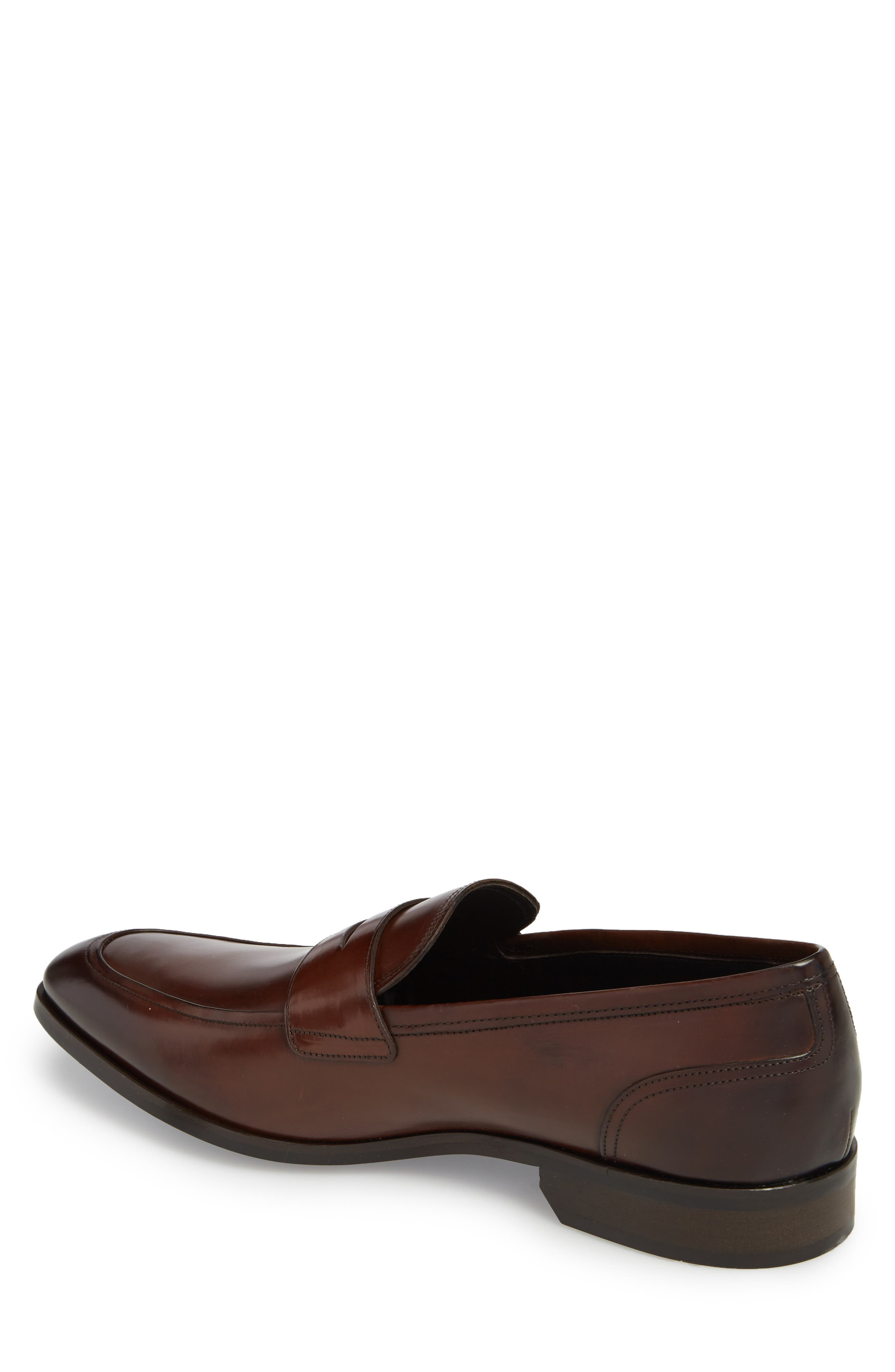 Deane Penny Loafer,                             Alternate thumbnail 2, color,                             Marrone Leather