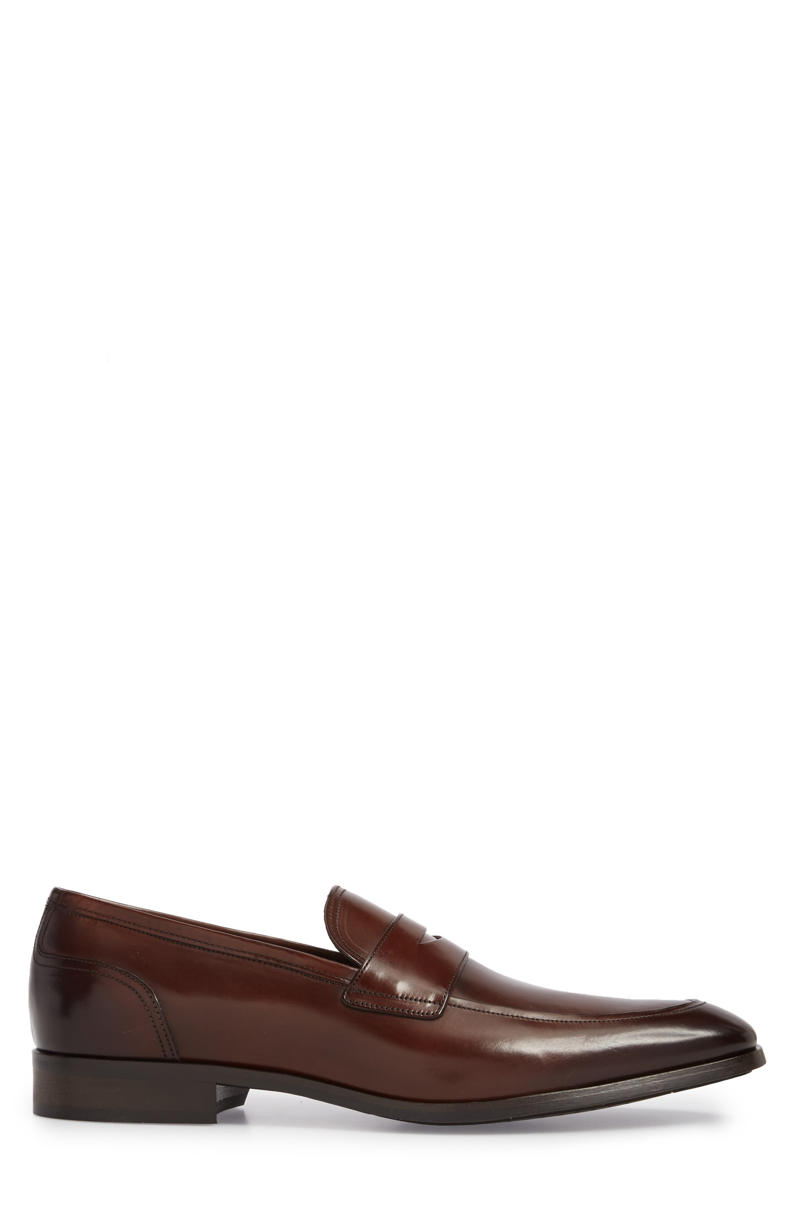 Deane Penny Loafer,                             Alternate thumbnail 3, color,                             Marrone Leather