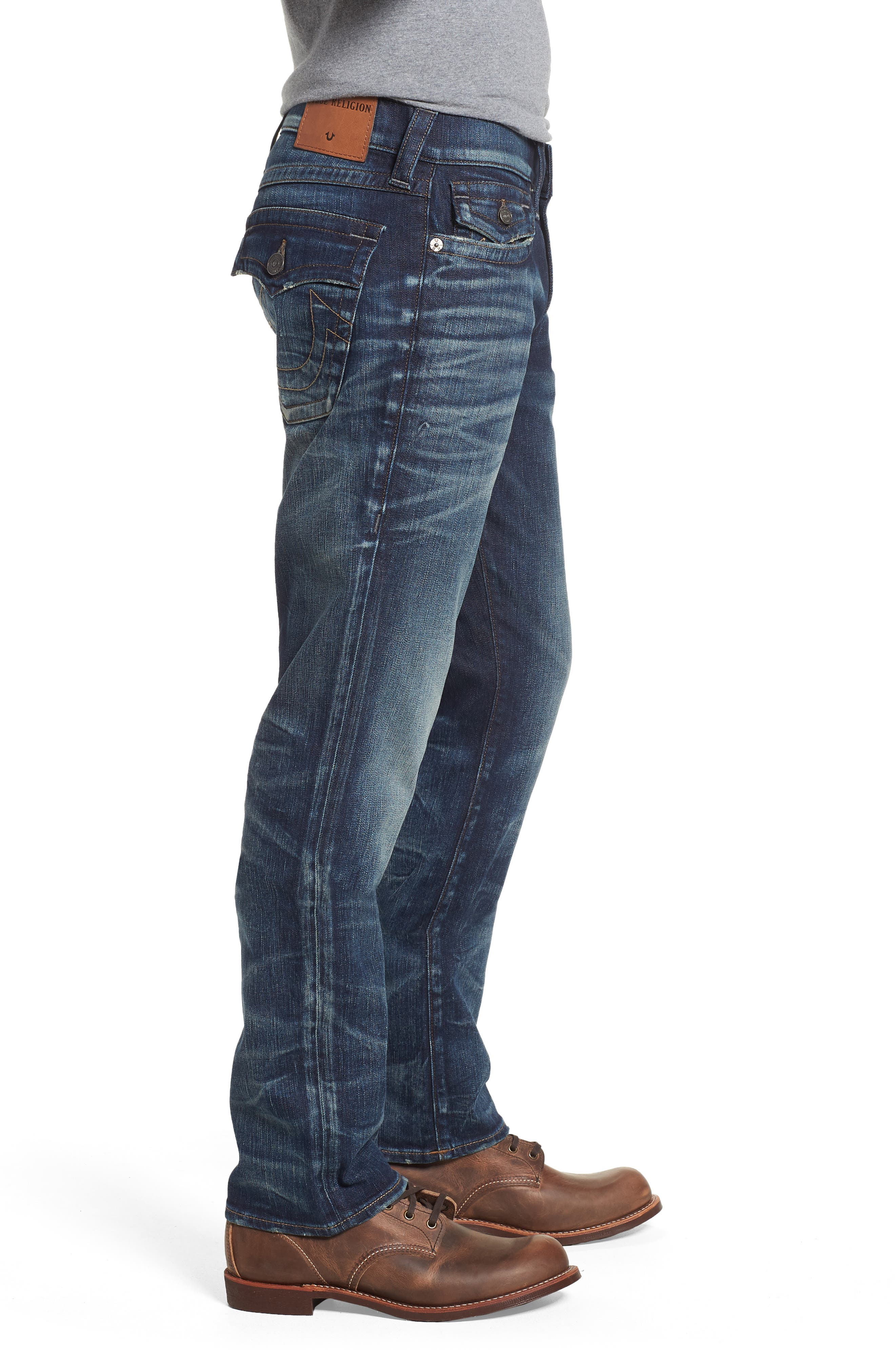 Ricky Relaxed Fit Jeans,                             Alternate thumbnail 3, color,                             Combat Blues