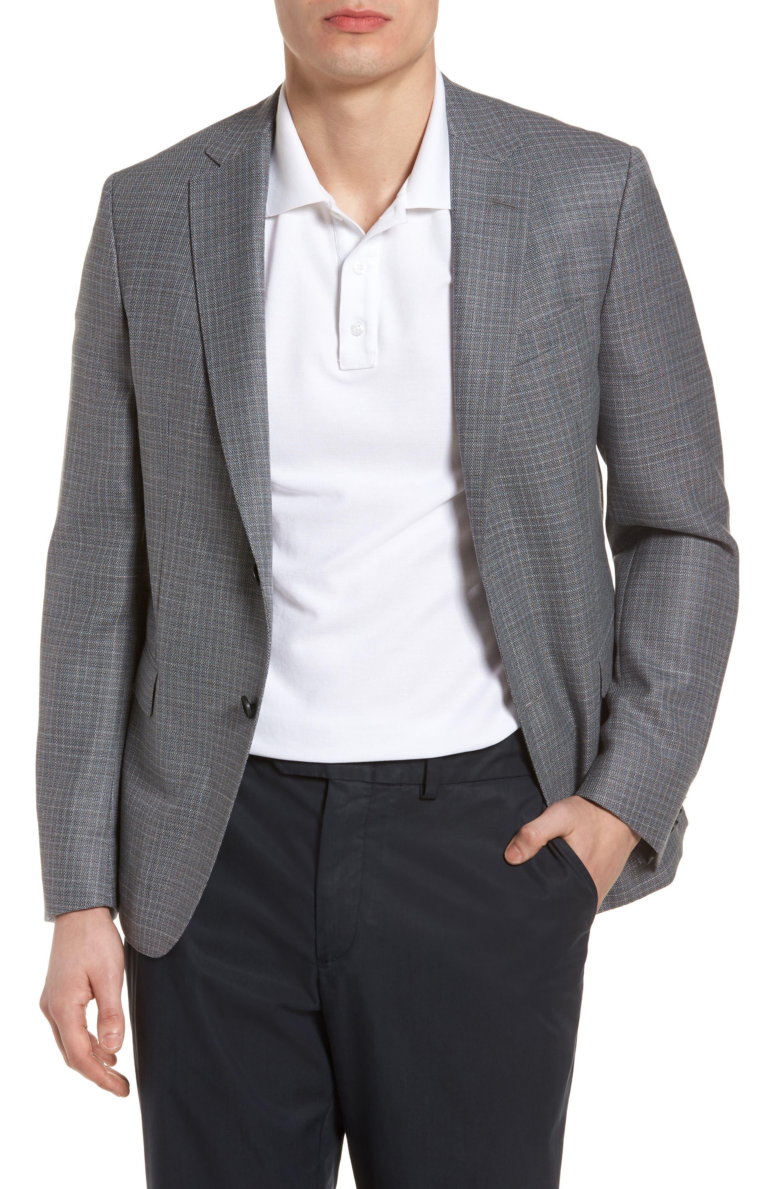 Nobis Trim Fit Wool Sport Coat,                             Main thumbnail 1, color,                             Medium Grey