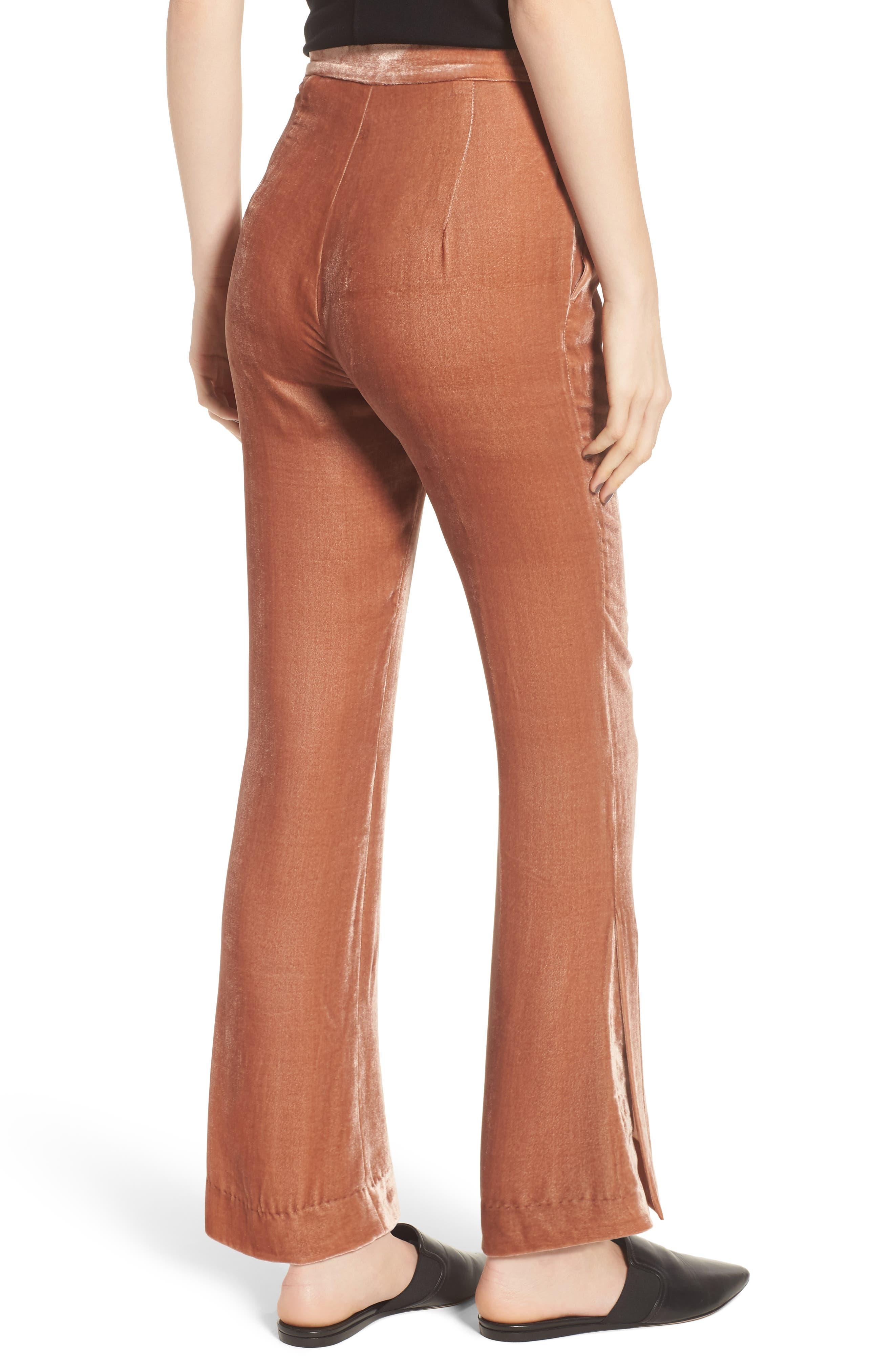 Bushwick Velvet Pants,                             Alternate thumbnail 2, color,                             Brown