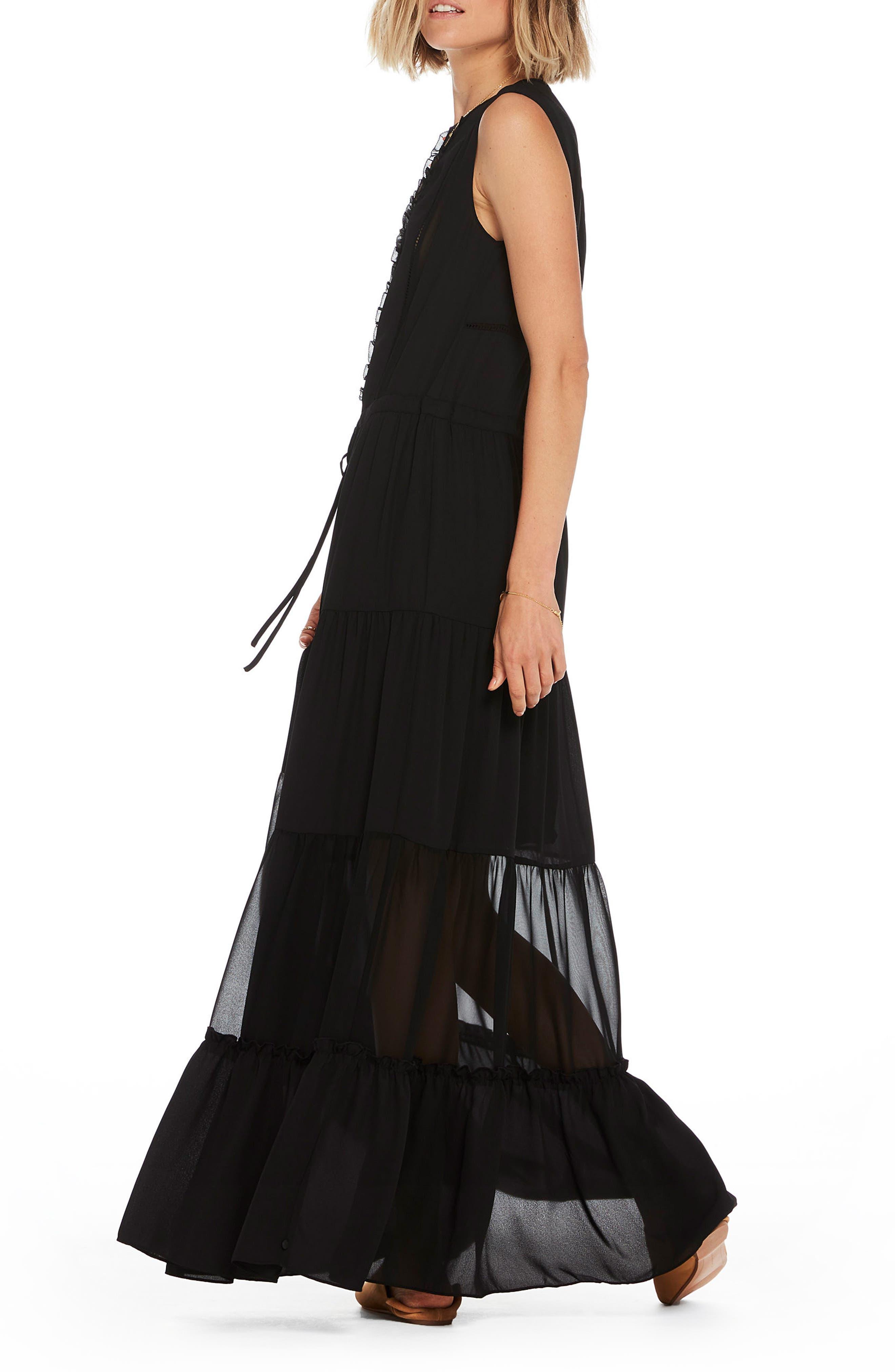 Sleeveless Maxi Dress,                             Alternate thumbnail 2, color,                             Color 08 Black
