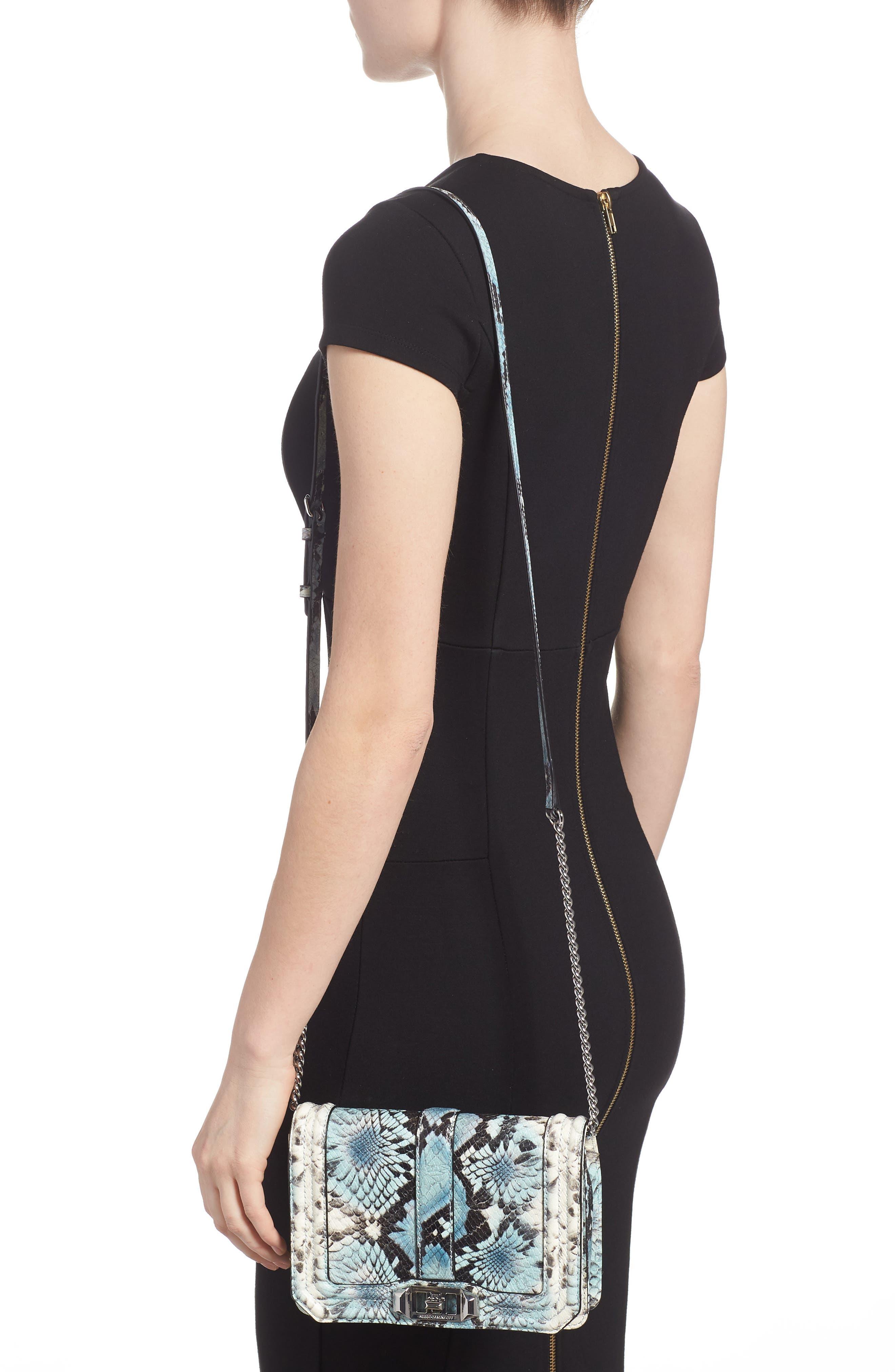 Alternate Image 2  - Rebecca Minkoff Small Love Snake Embossed Leather Crossbody Bag