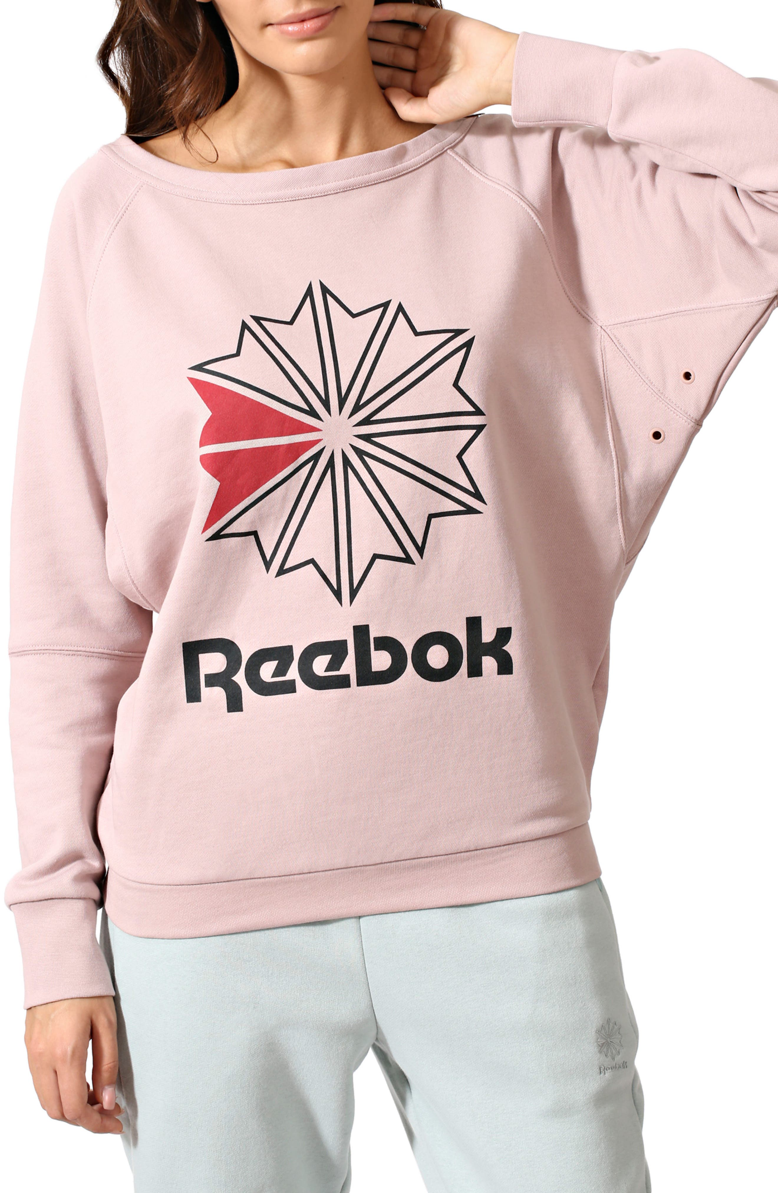 Heritage Starcrest Sweatshirt,                             Main thumbnail 1, color,                             Shell Pink