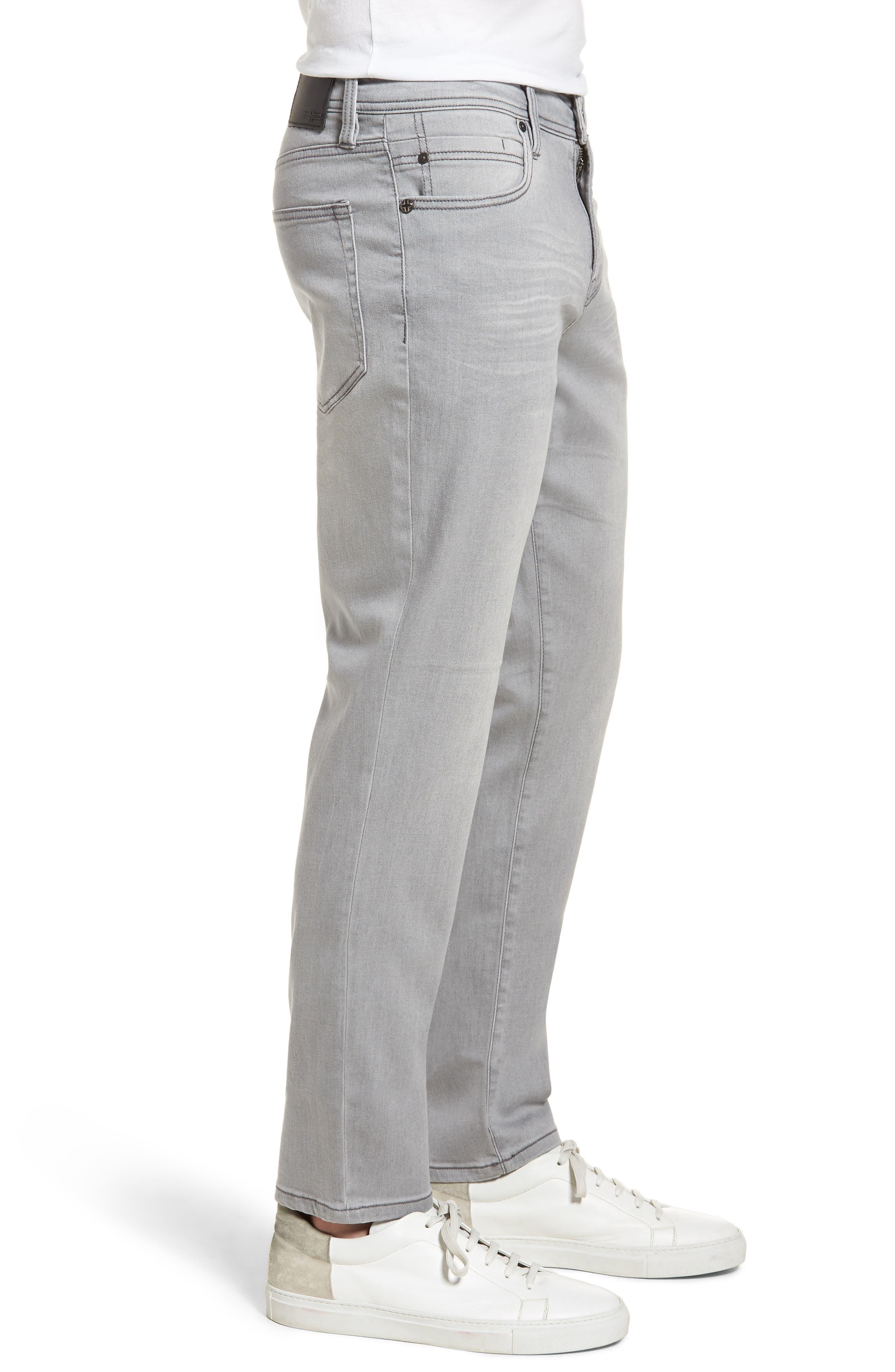 Jeans Co. Kingston Slim Straight Leg Jeans,                             Alternate thumbnail 3, color,                             Coal Mine Dark