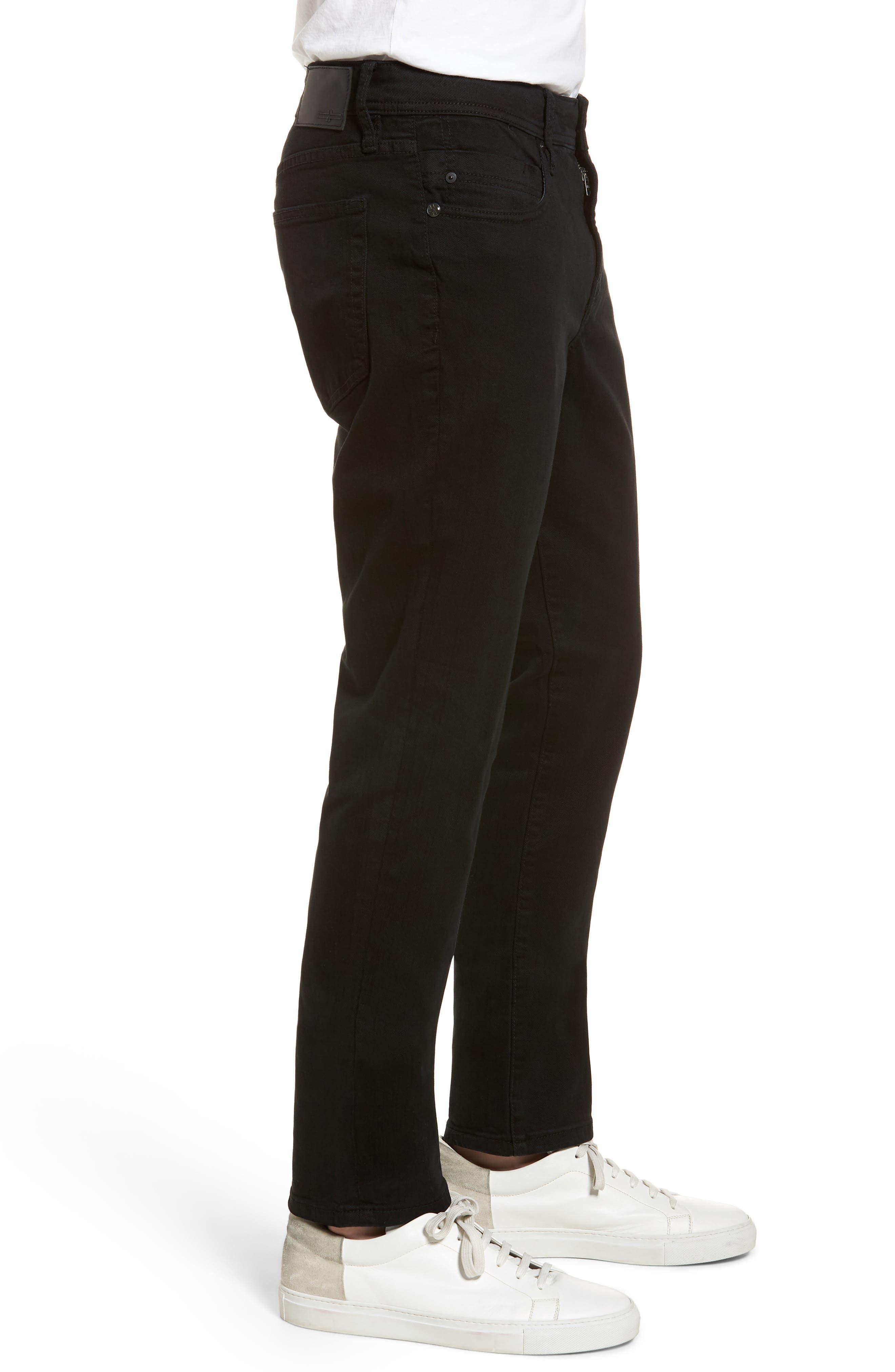 Jeans Co. Kingston Slim Straight Leg Jeans,                             Alternate thumbnail 3, color,                             Black Rinse
