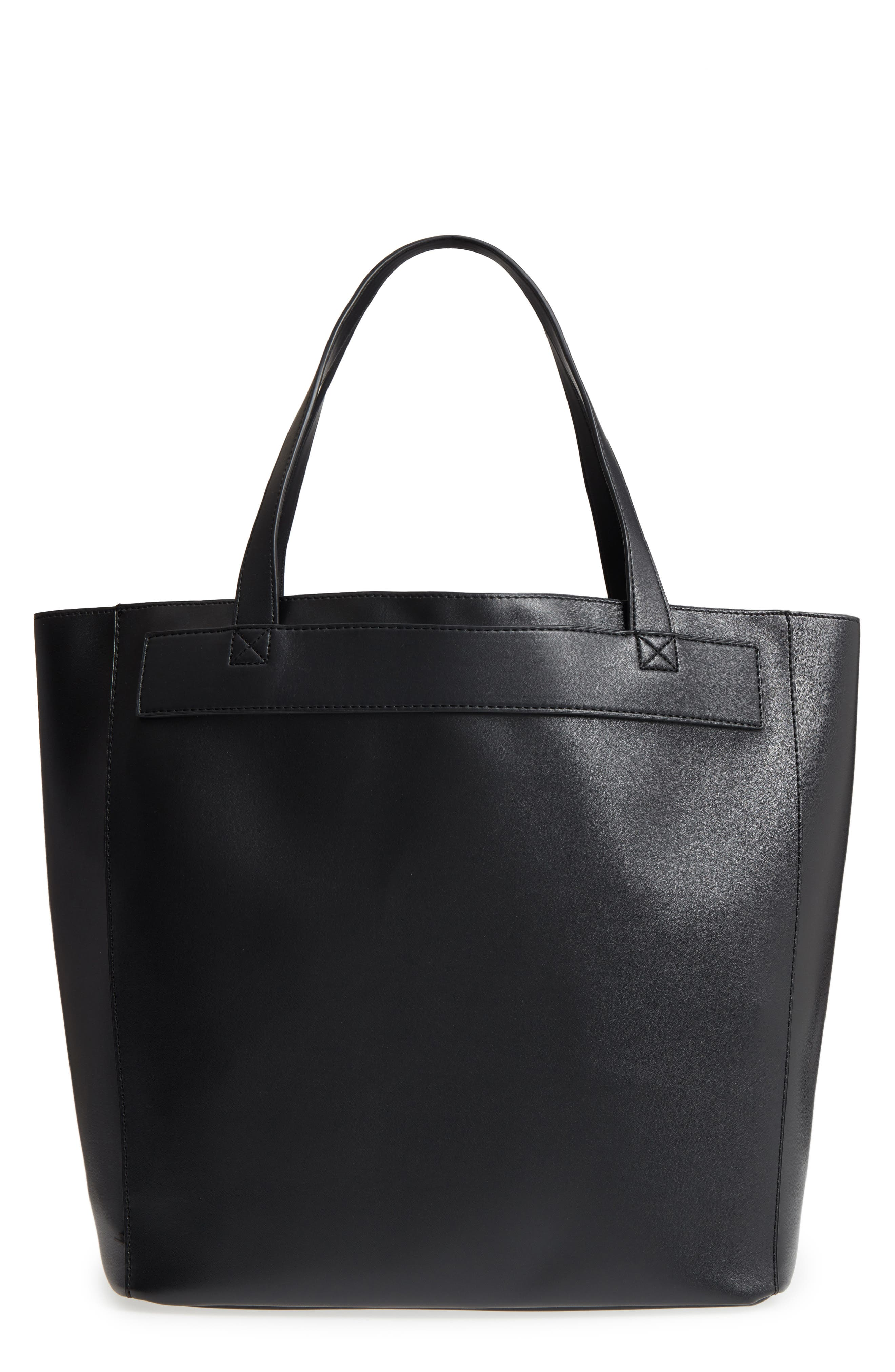 BP. Stitched Faux Leather Tote
