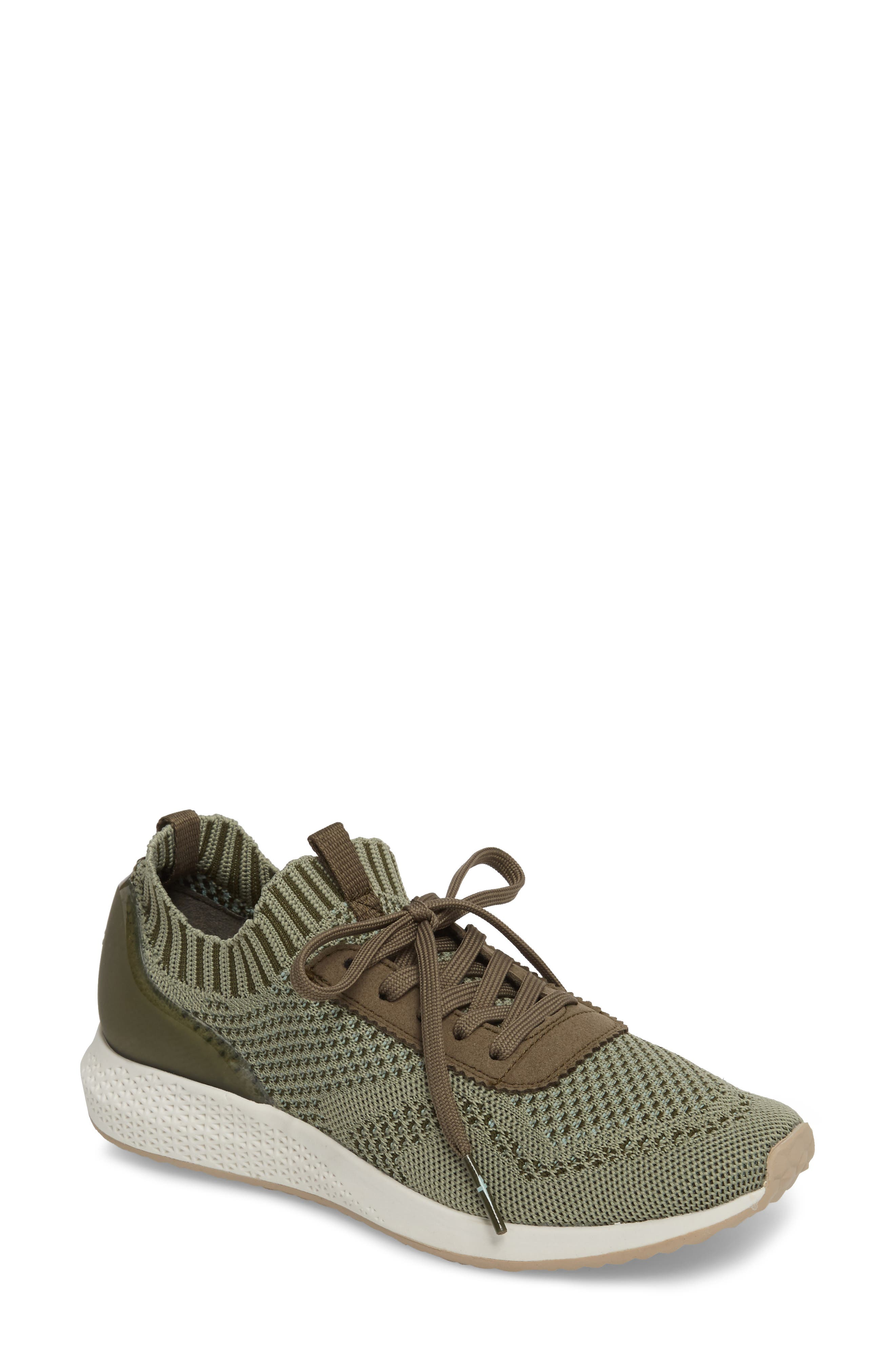 Tavia Sneaker,                         Main,                         color, Olive Leather