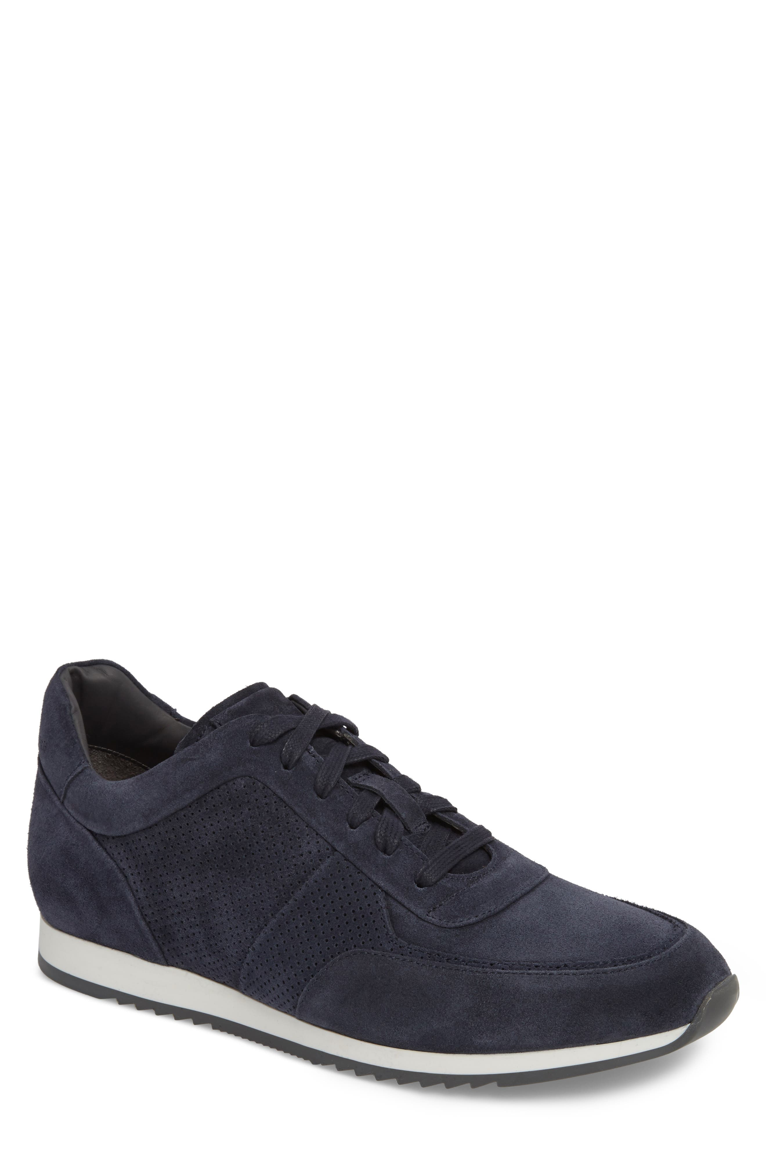 Fordham Low Top Sneaker,                             Main thumbnail 1, color,                             Space Blue Suede