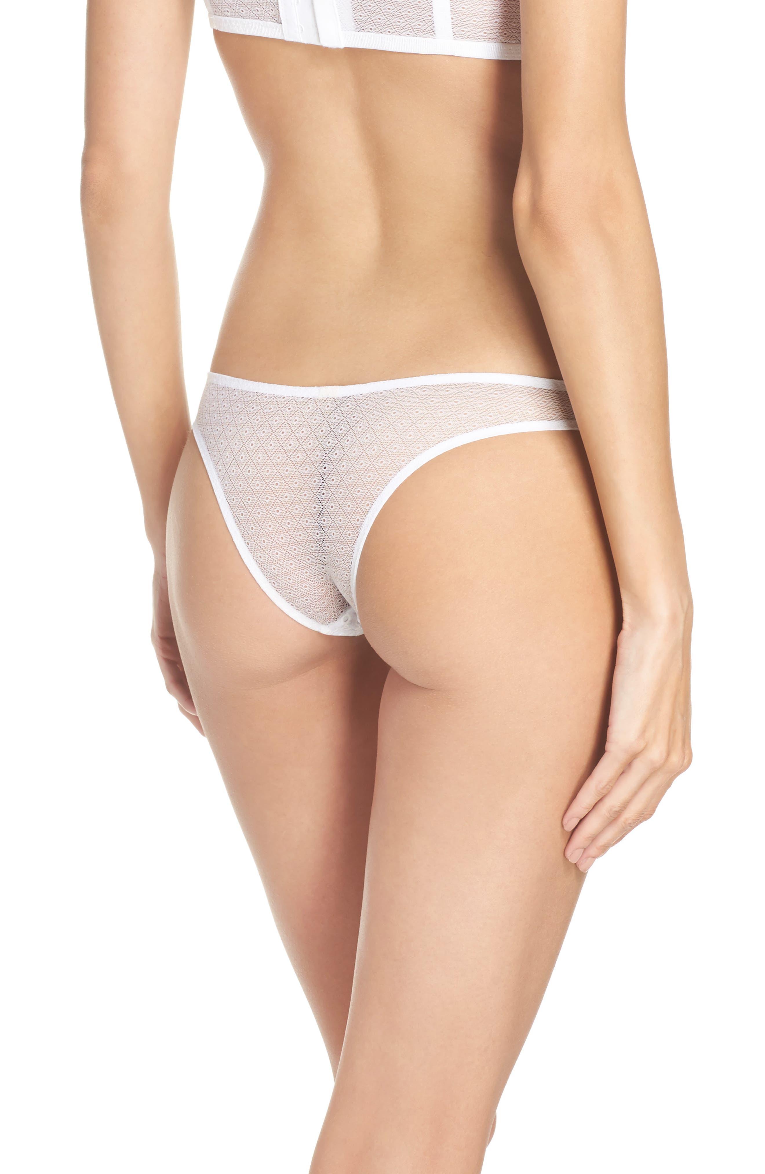 Intimately FP St. Tropez Tanga Panties,                             Alternate thumbnail 2, color,                             White