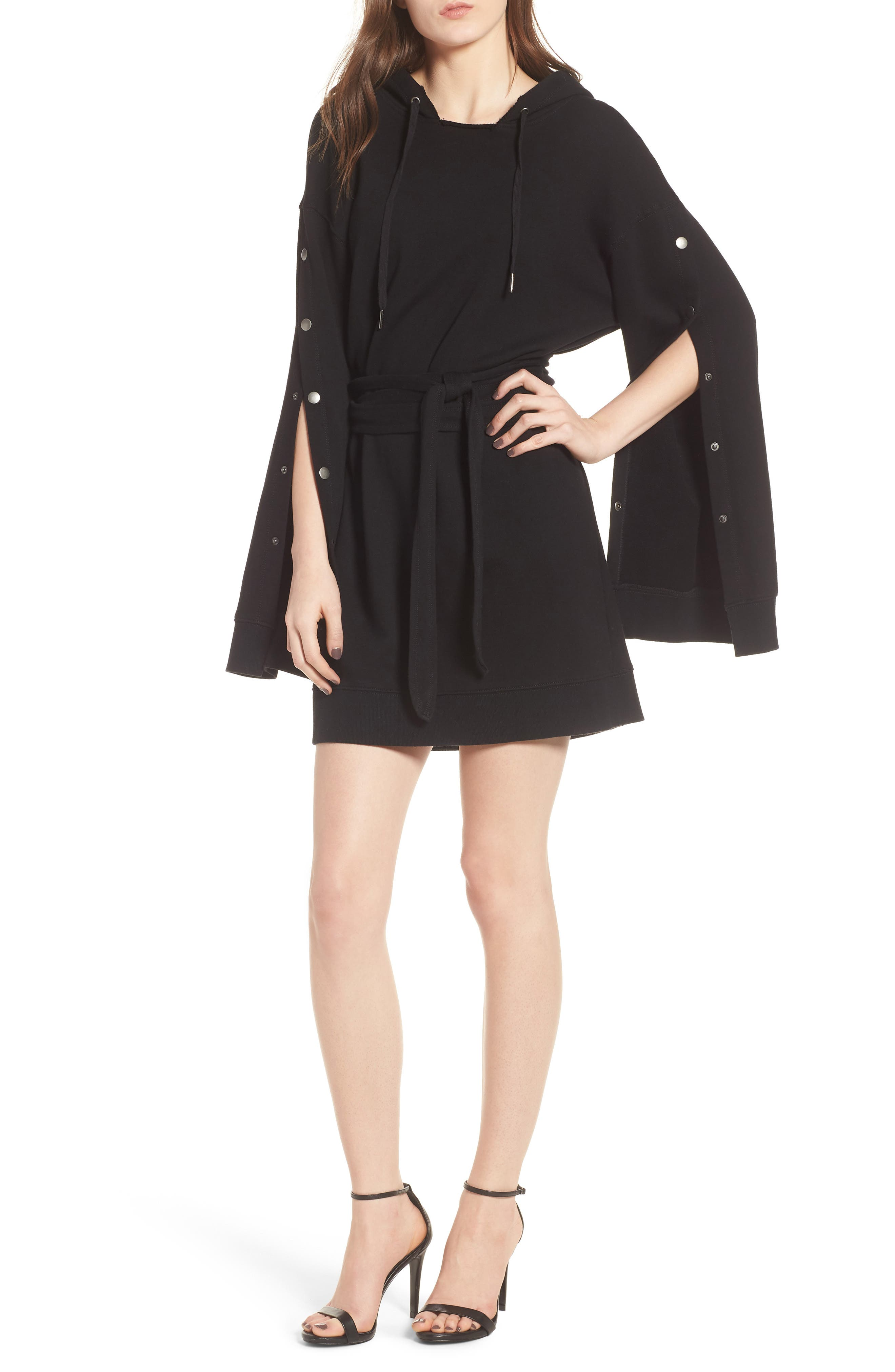 Pam & Gela Hooded Sweatshirt Dress