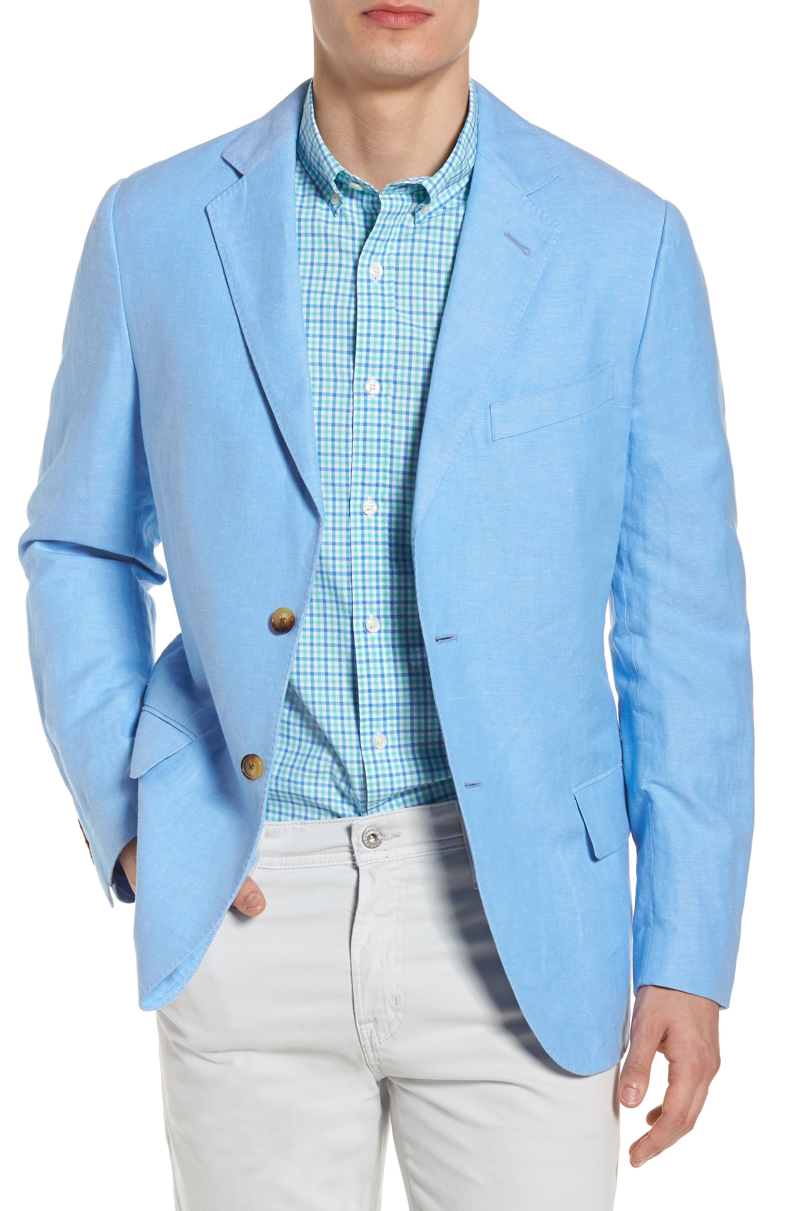 vineyard vines Classic Fit Chambray Cotton Blazer