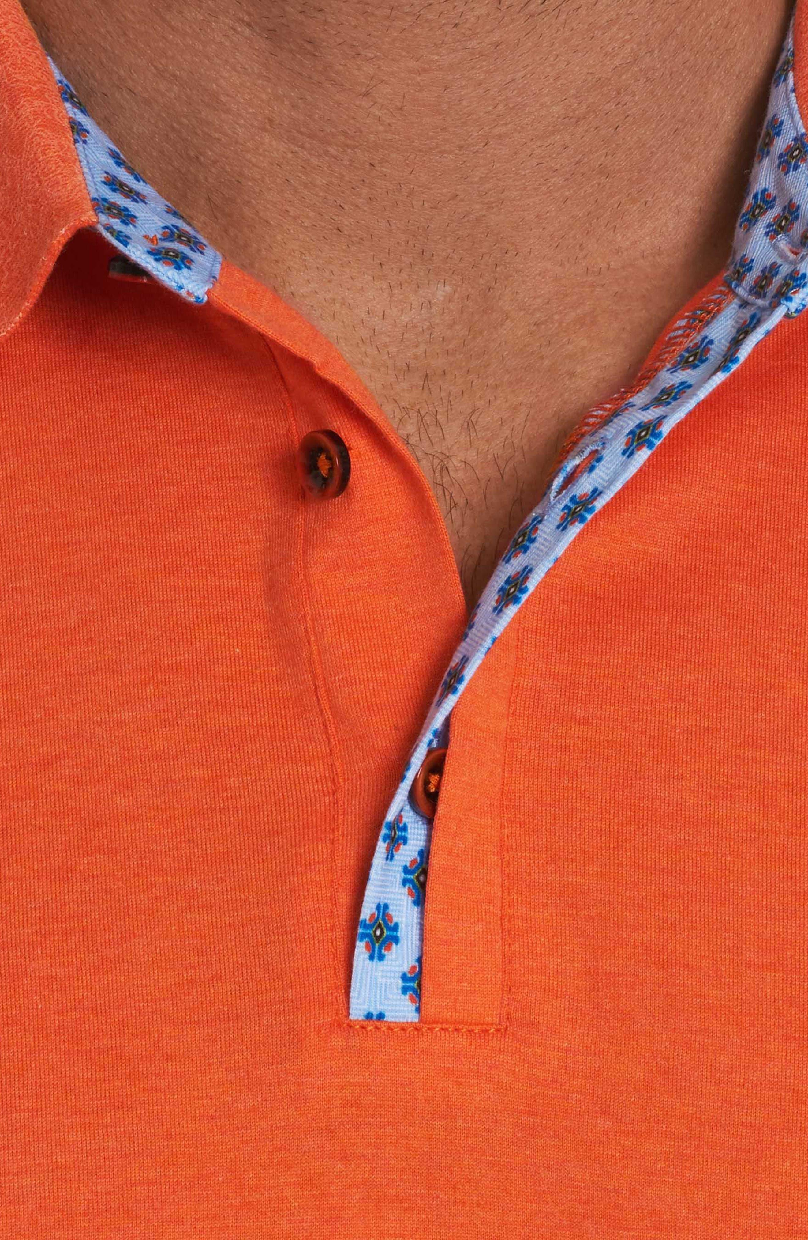 Diego Classic Fit Polo,                             Alternate thumbnail 4, color,                             Orange